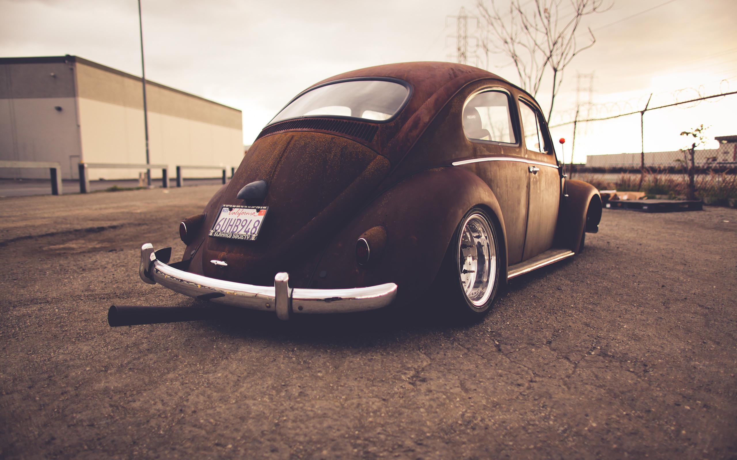 Volkswagen Bug Classic Car Classic Rust Warm Wheel tuning lowrider r .