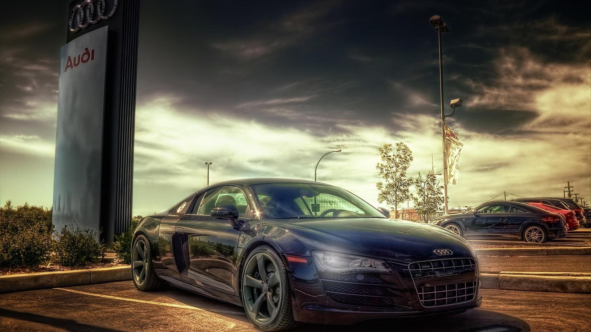 Cars parking HDR photography Audi R8 V10 wallpaper | | 184977 |  WallpaperUP