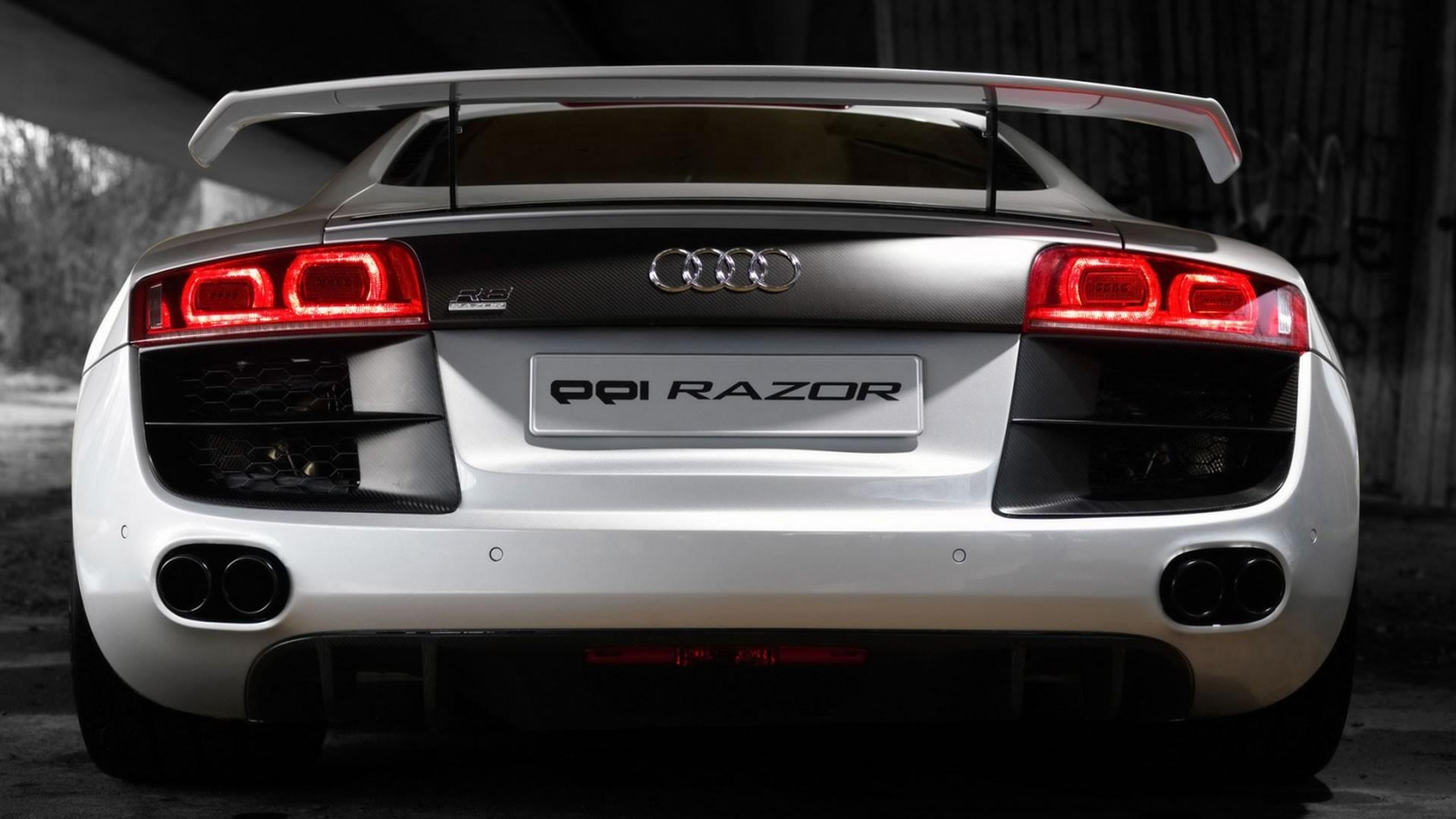 Wallpaper audi, r8, luxury, car, white, symbols, ride