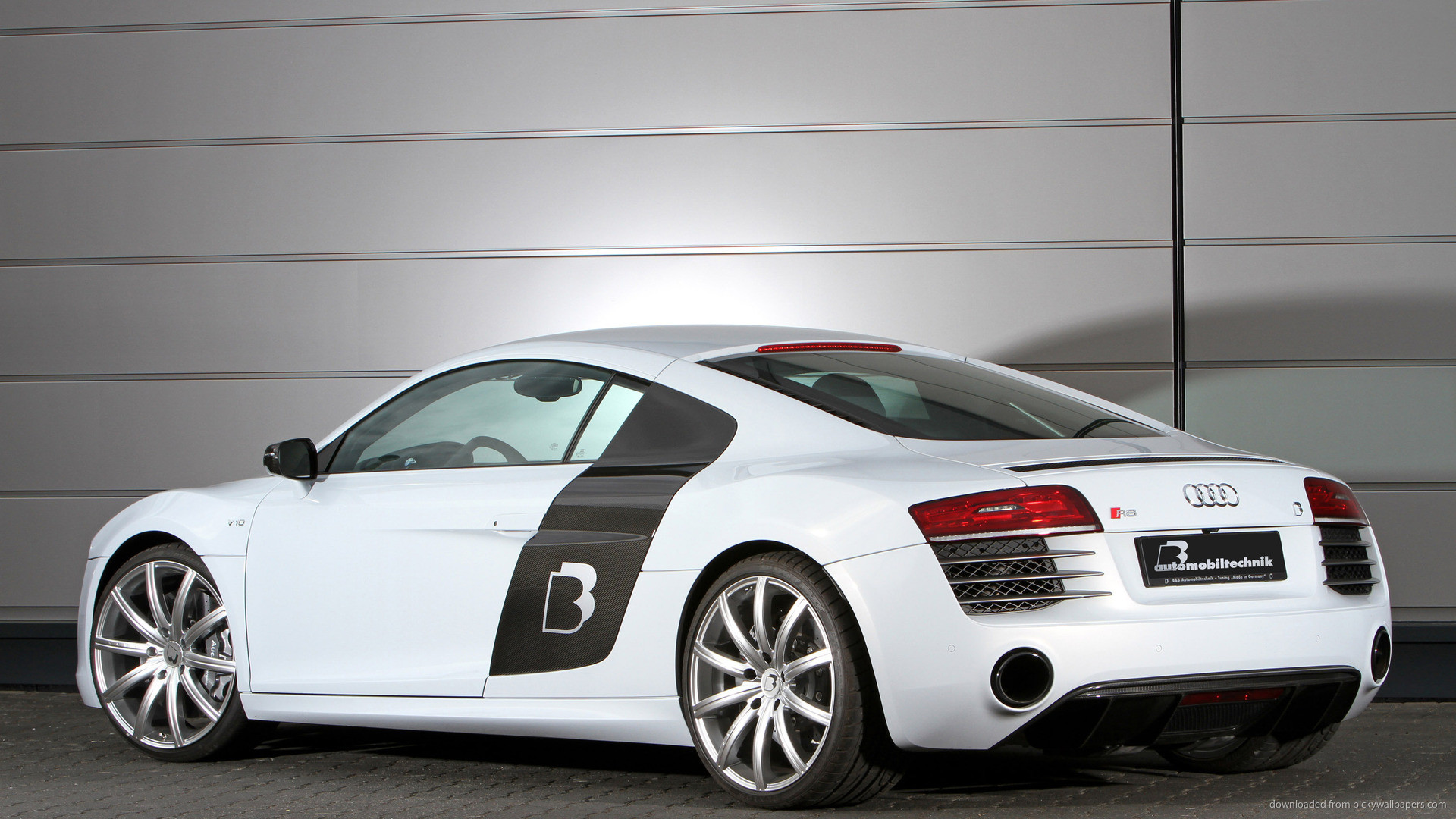 BB Audi R8 V10 Plus Back for 1920×1080