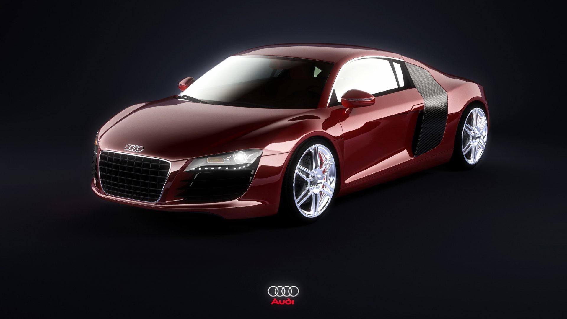 Audi R8 Burgundy 4k HD Wallpaper