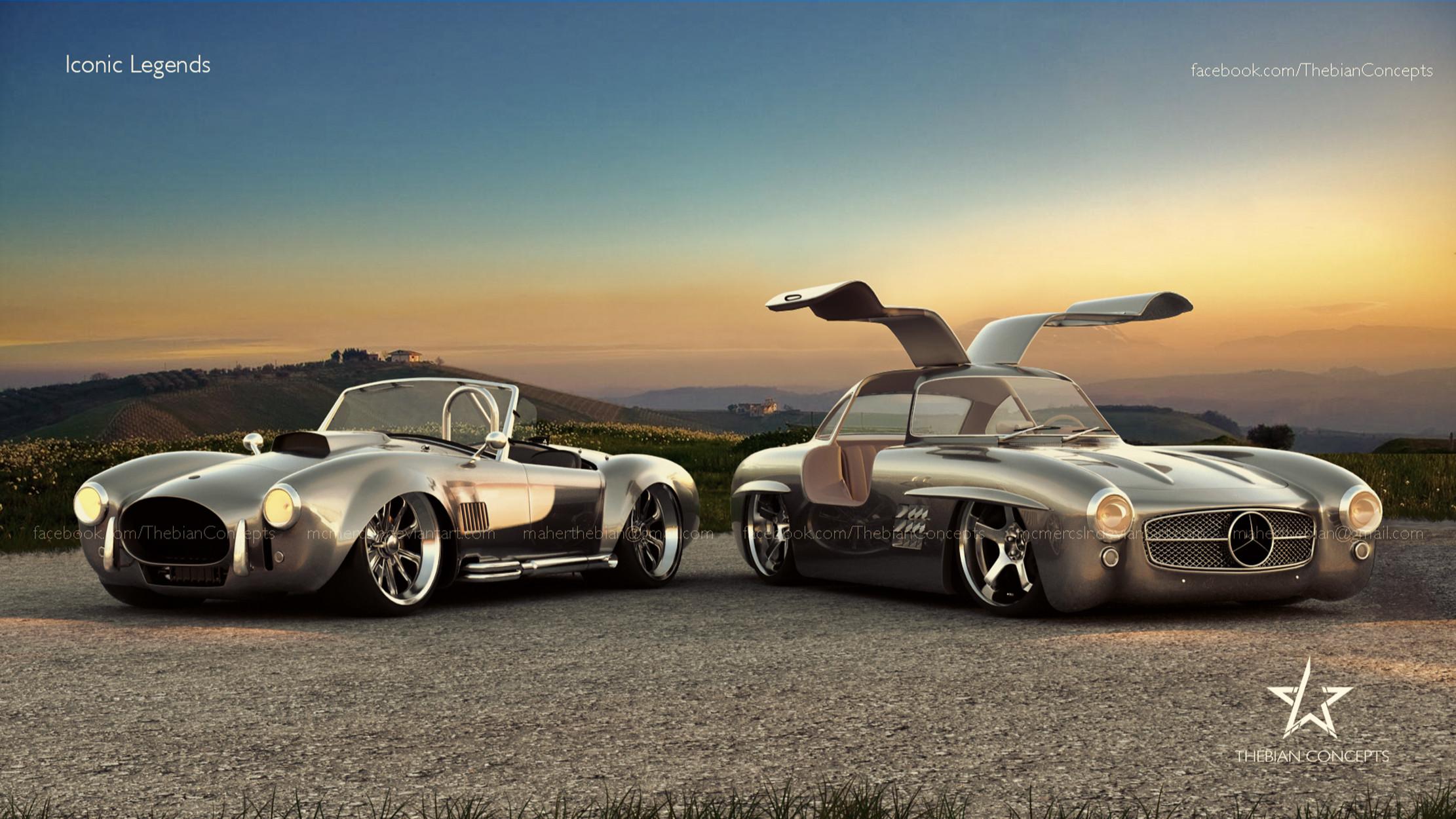Vehicles – Classic Mercedes 300Sl Cobra Mercedes-Benz Ford Cobra Shelby  Cobra Wallpaper