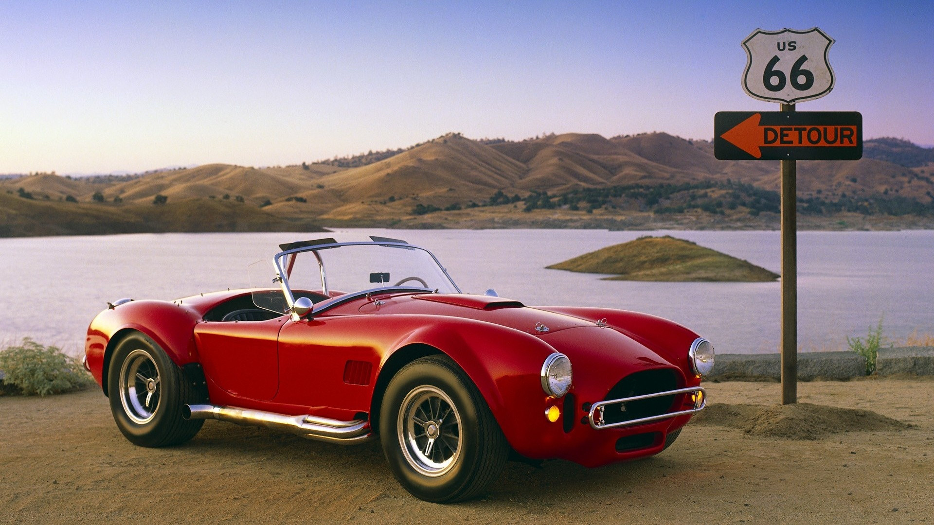 #Usa #Road #Route66 #OldCar #Shelby #ShelbyCobra427 #Wallpaper