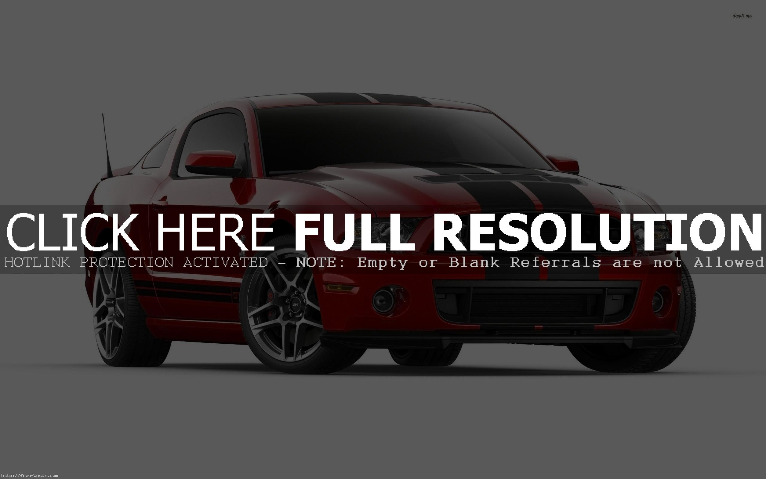 RED FORD MUSTANG SHELBY GT500 BLACK STRIPES WIDESCREEN WALLPAPER
