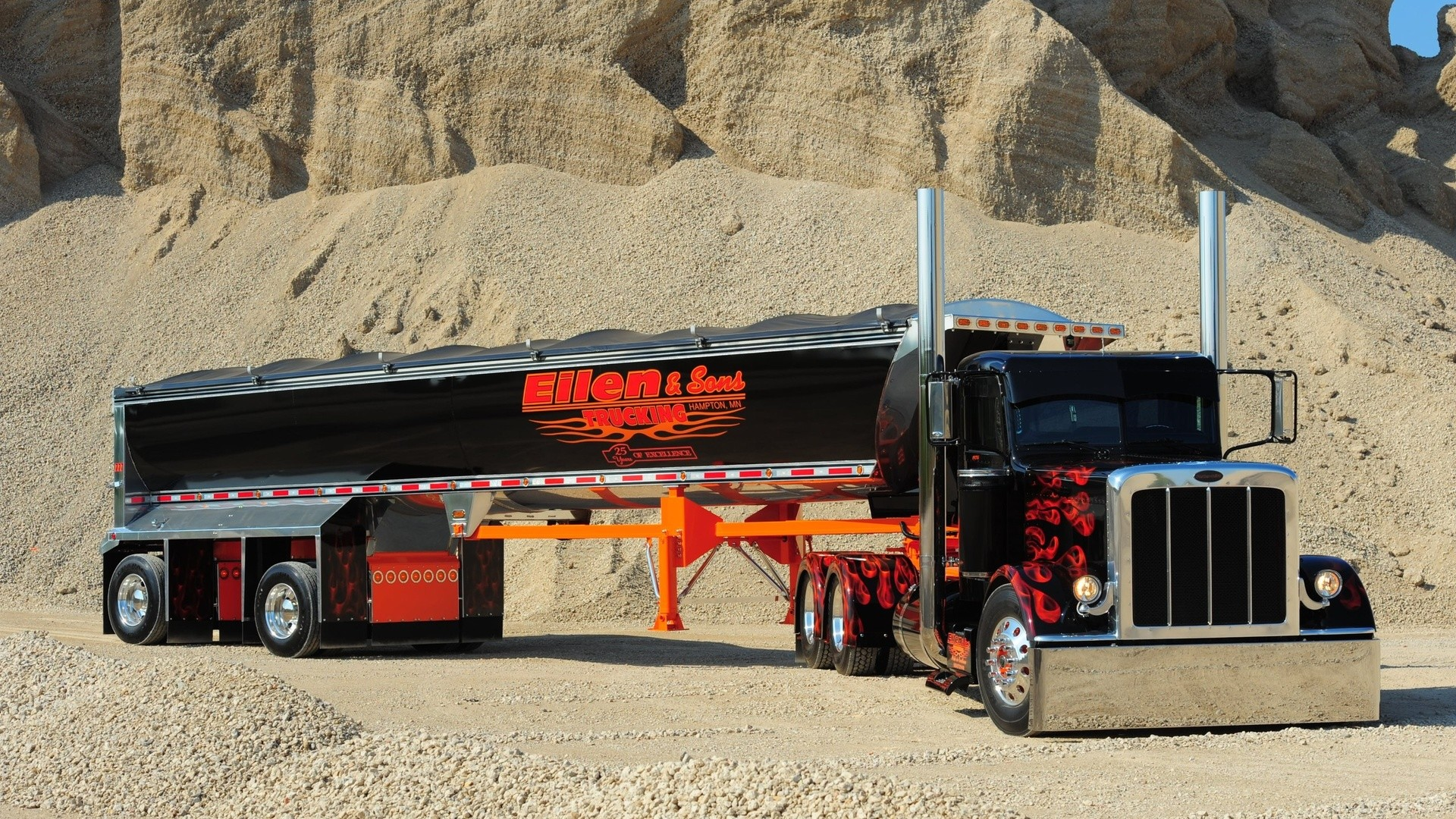 Peterbilt Trucks | Peterbilt semi trucks tractor rigs wallpaper |  | 53873 .