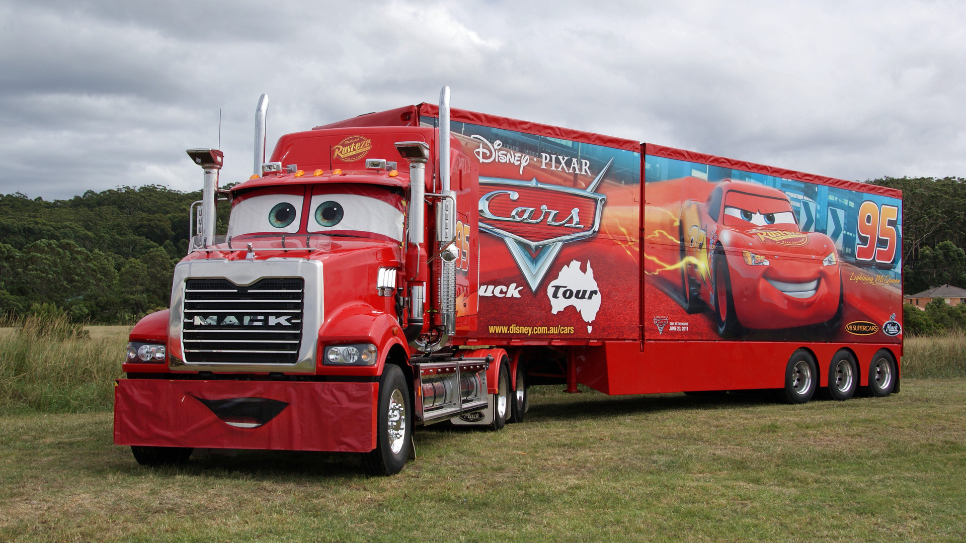 Mack semi-truck – with the movie Cars!