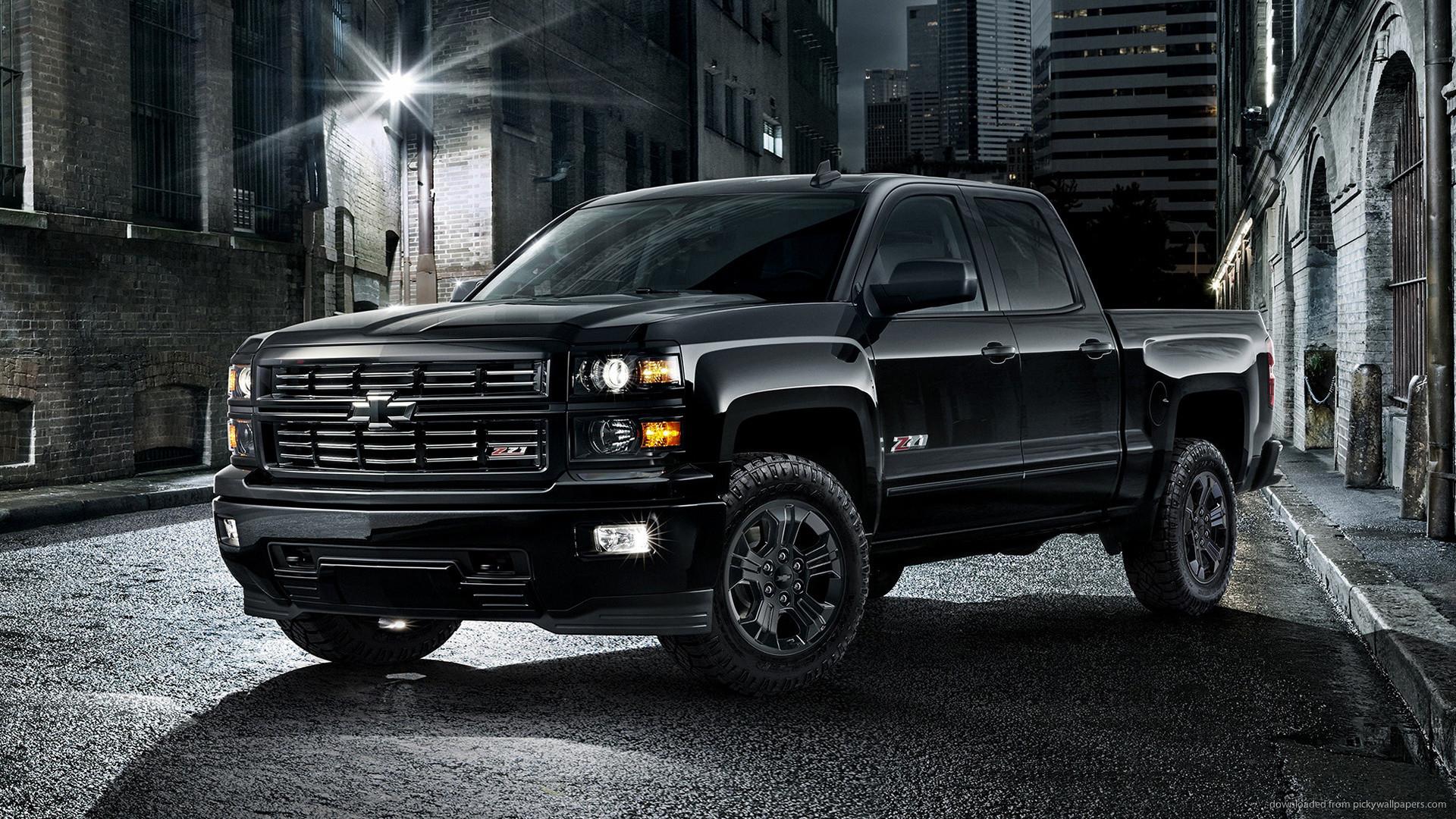 2015 Black Chevrolet Silverado Wallpaper picture