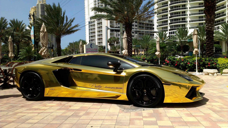 First Gold Plated Lamborghini Aventador LP700-4 Better only Lamborghini  Veneno,Lamborghini Egoista – YouTube