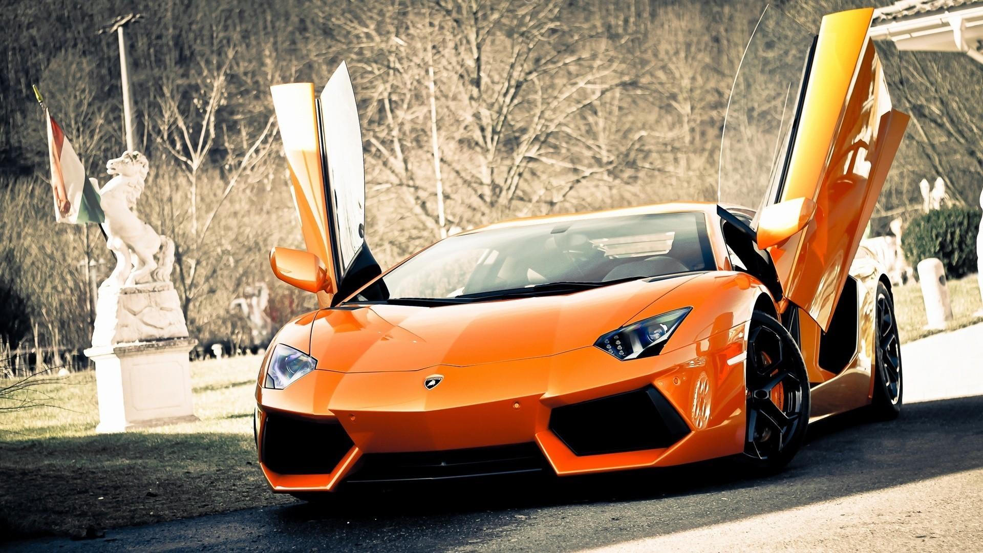 New Lamborghini Aventador Sports Cars HD Wallpaper