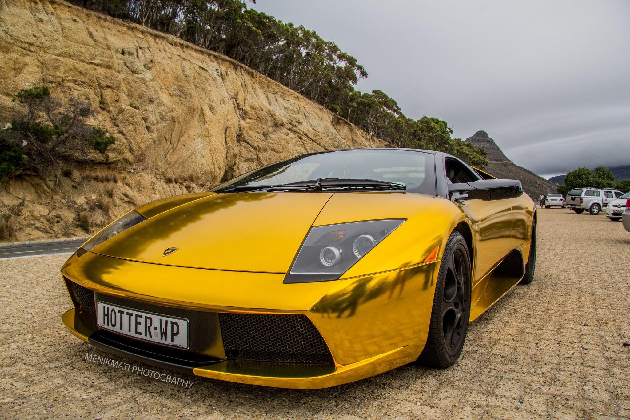 Lamborghini Murcielago gold chrome coupe Vinyl wrap cars supercars wallpaper      609400   WallpaperUP