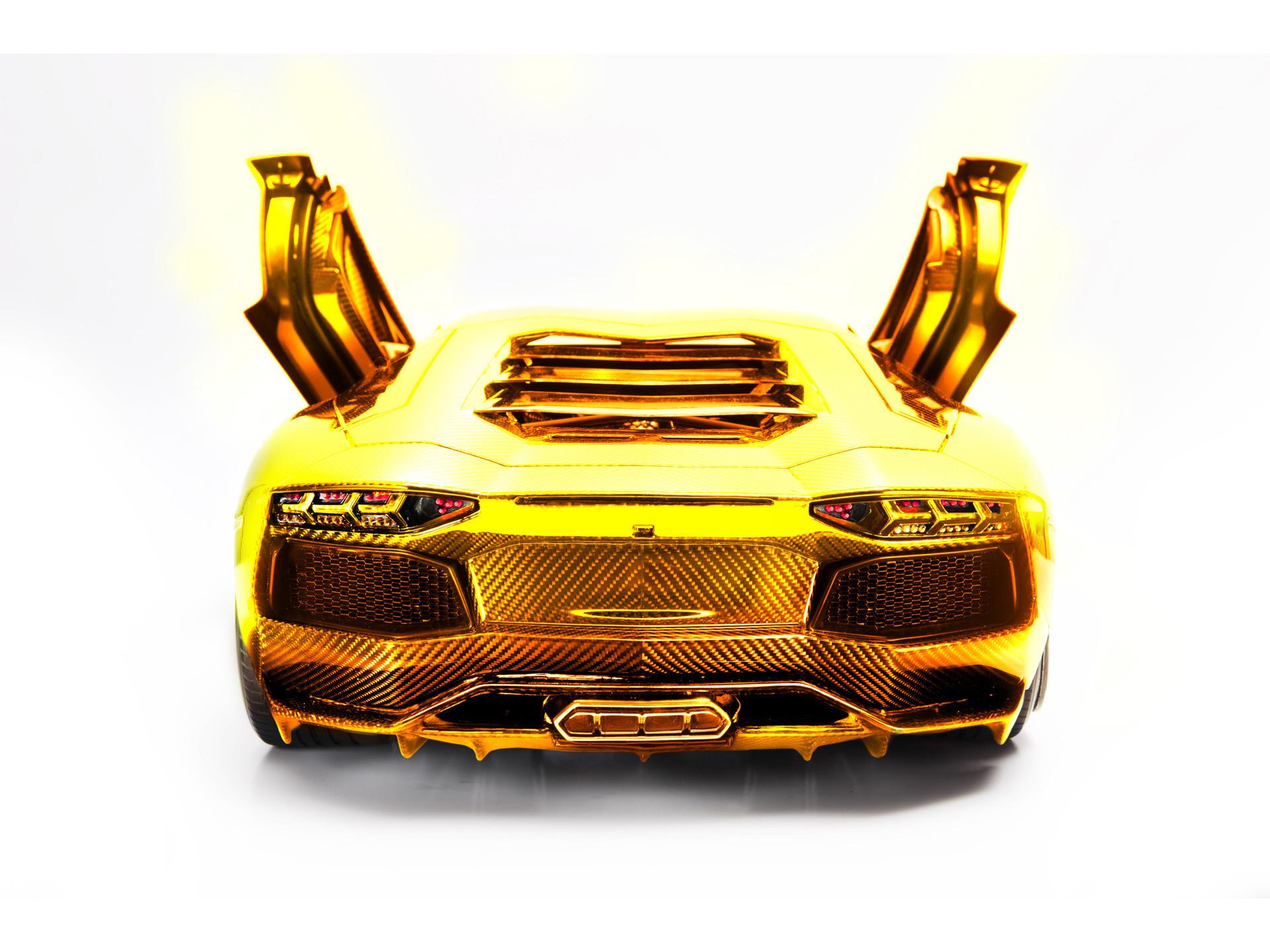 2012 Lamborghini Aventador LP 700-4 Model by Robert Gulpen Engineering –  Gold Rear Open Doors – – Wallpaper