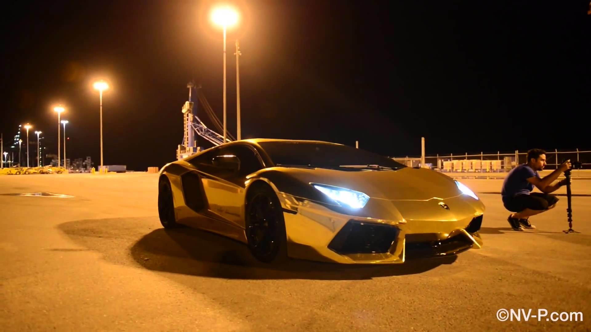 Gold Lamborghini Aventadoor doing multiple drifts and flybys HD -1080p –  YouTube