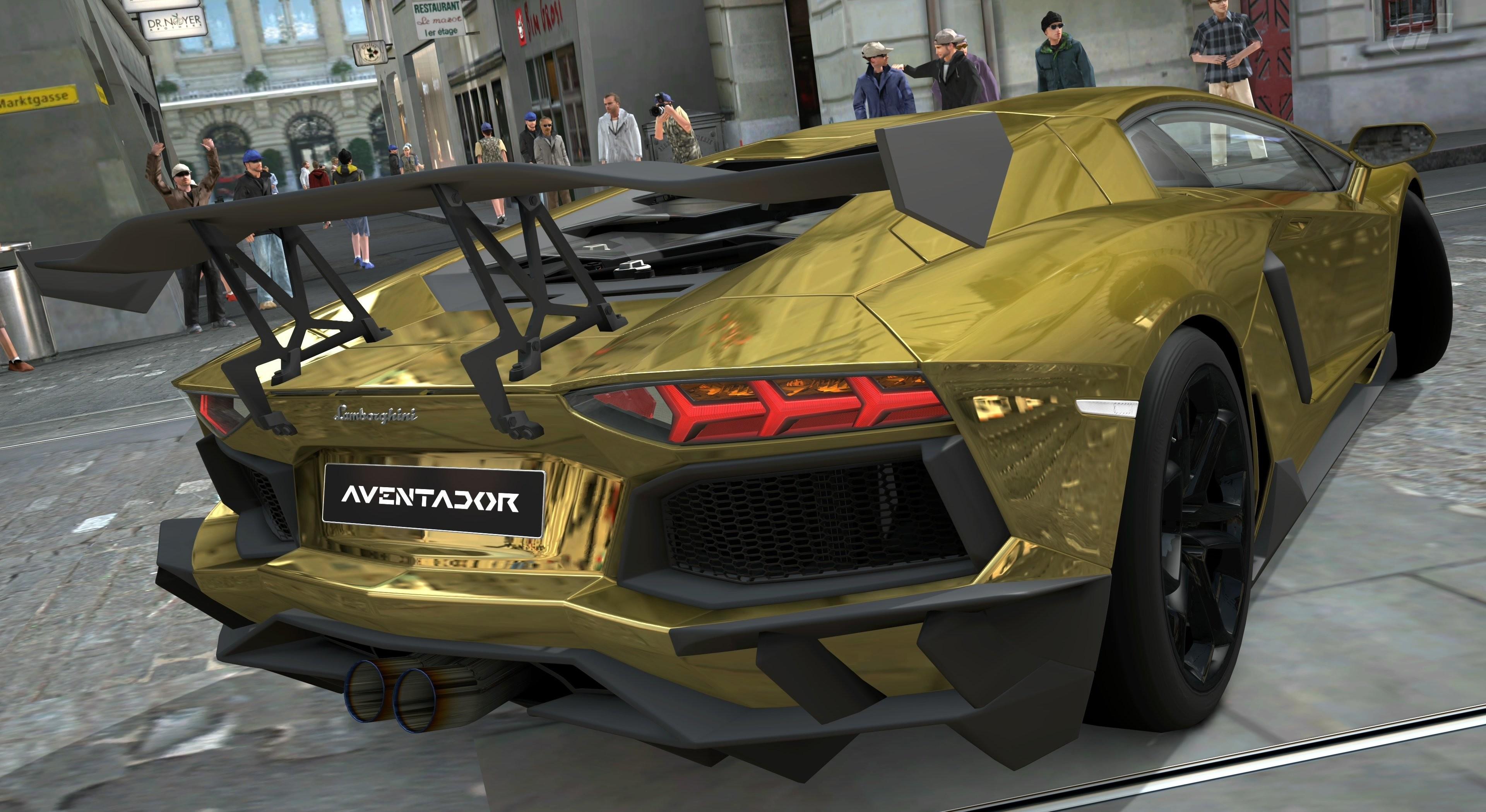 Lamborghini Aventador LP700-4 Gold Chrome Gran Turismo 5 72594