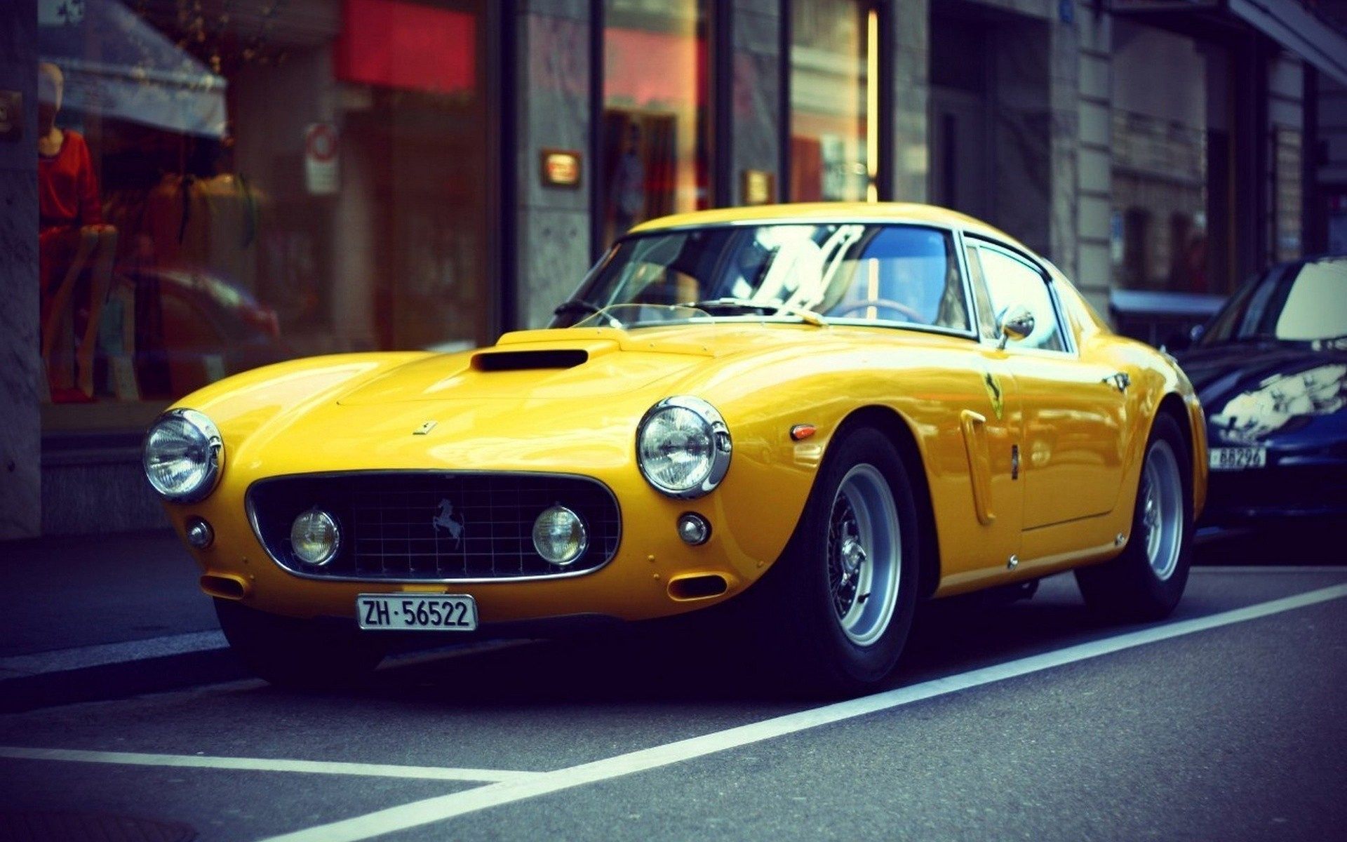 Ferrari Classic Car Photo Street City London Hd Wallpaper