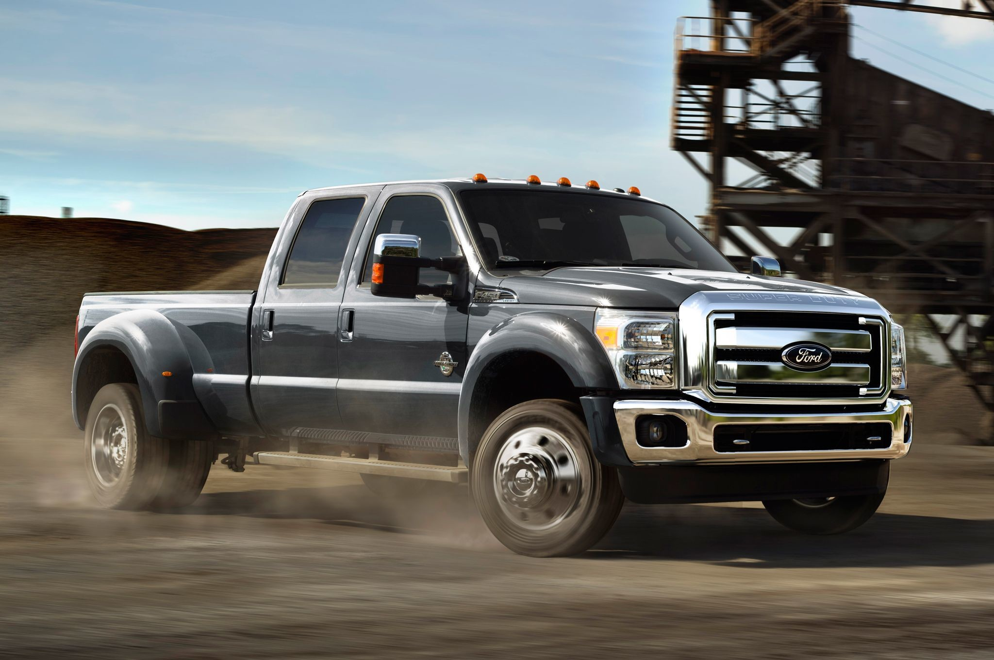 2015 Ford F 450 Super Duty Front View In Motion