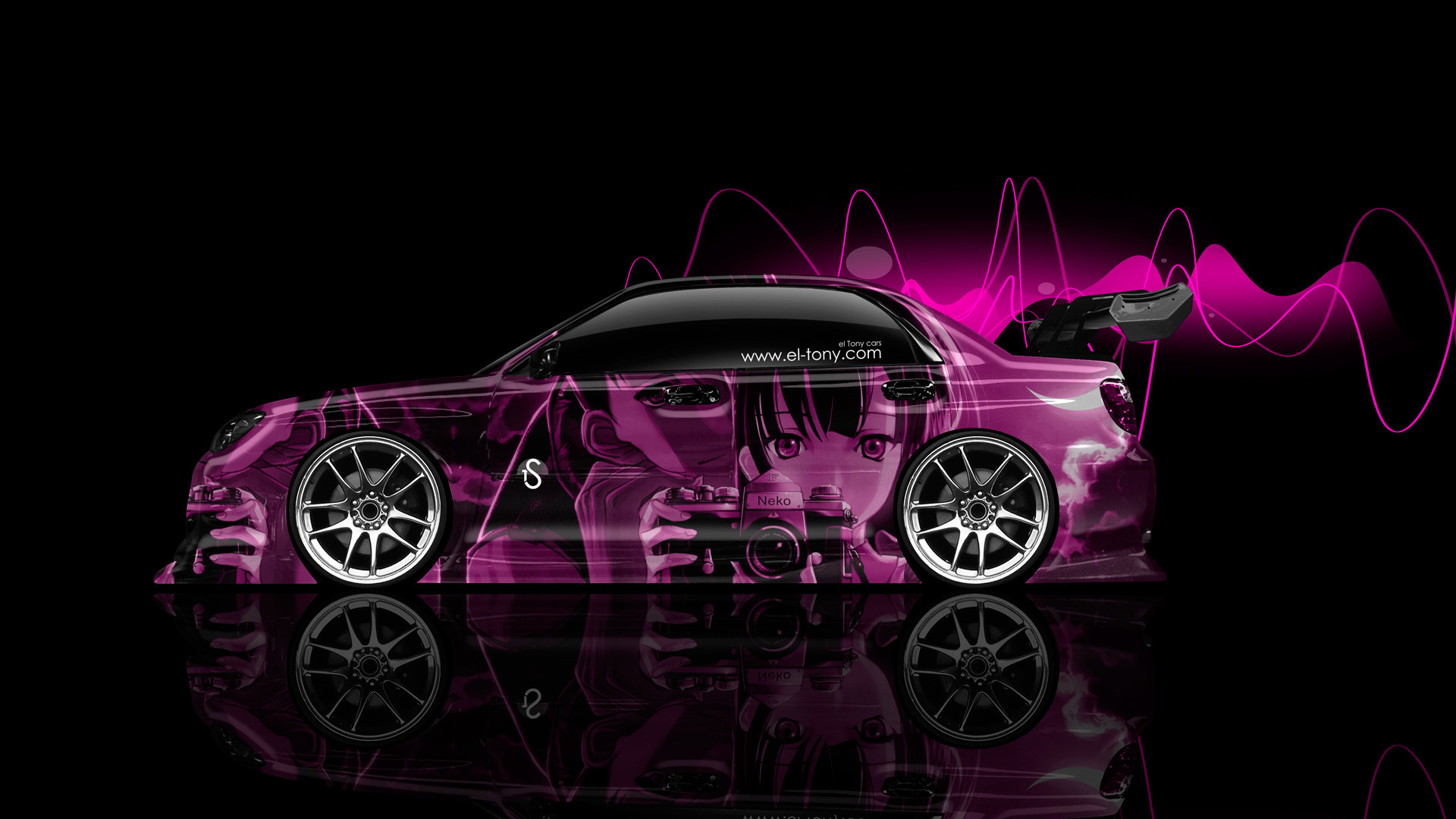 Subaru Impreza WRX STI JDM Side Anime Aerography Car 2014