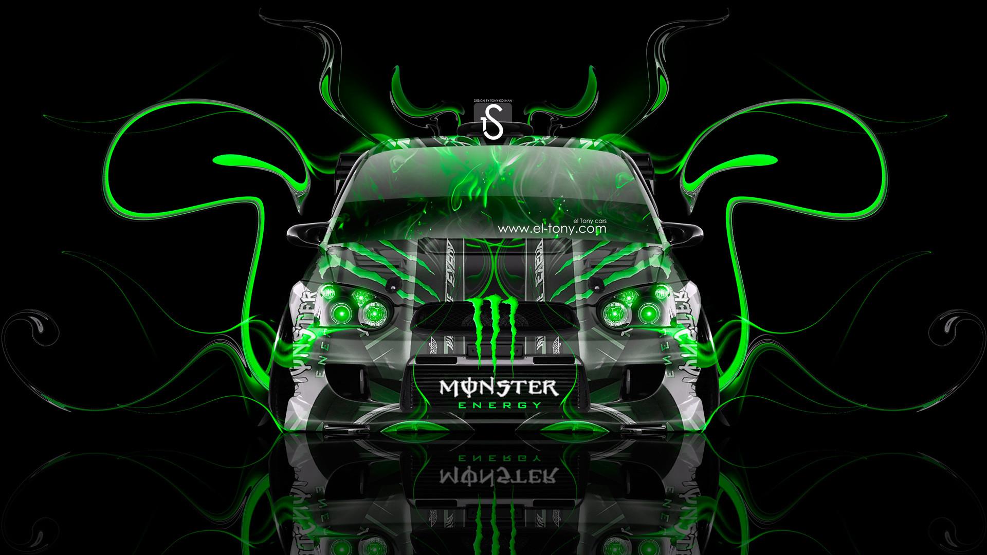 Monster-Energy-Subaru-Impreza-WRX-STI-JDM-Green-