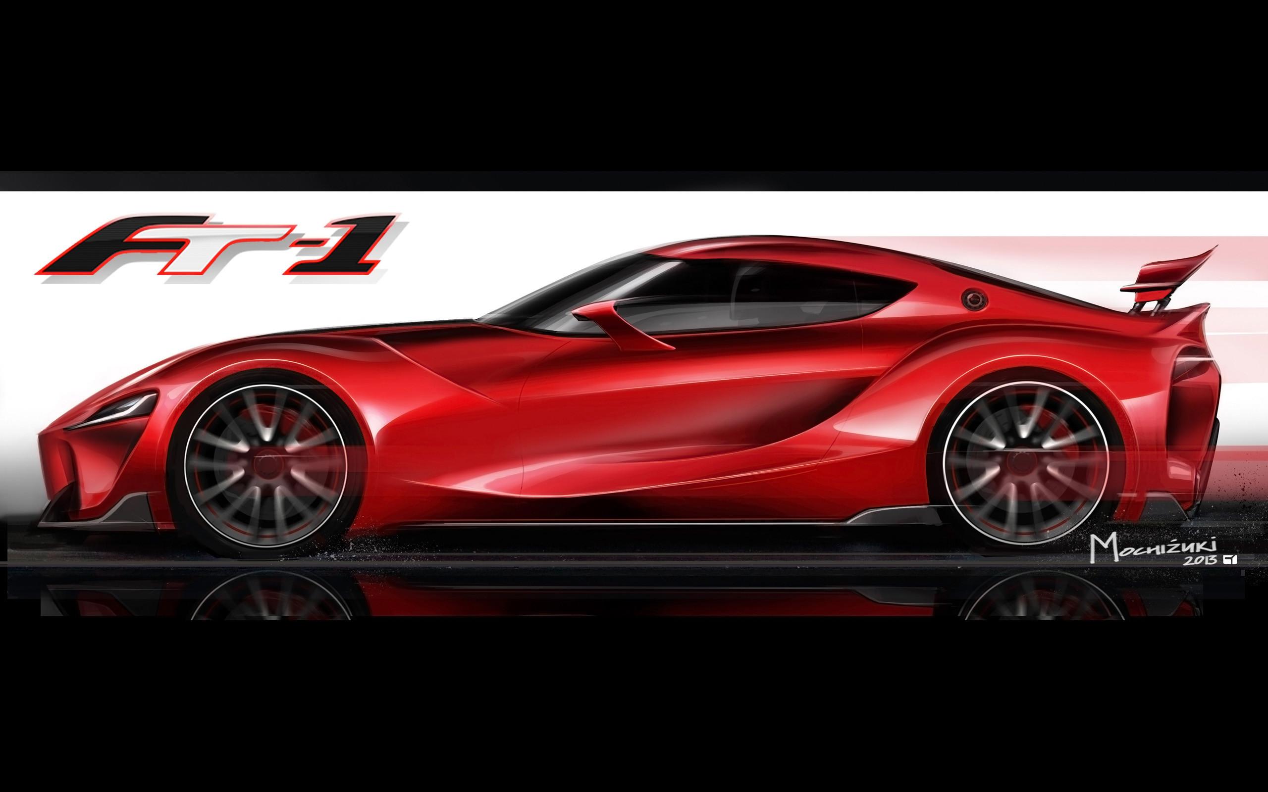 2014 Toyota FT-1 Concept supercar poster logo de wallpaper | |  230991 | WallpaperUP