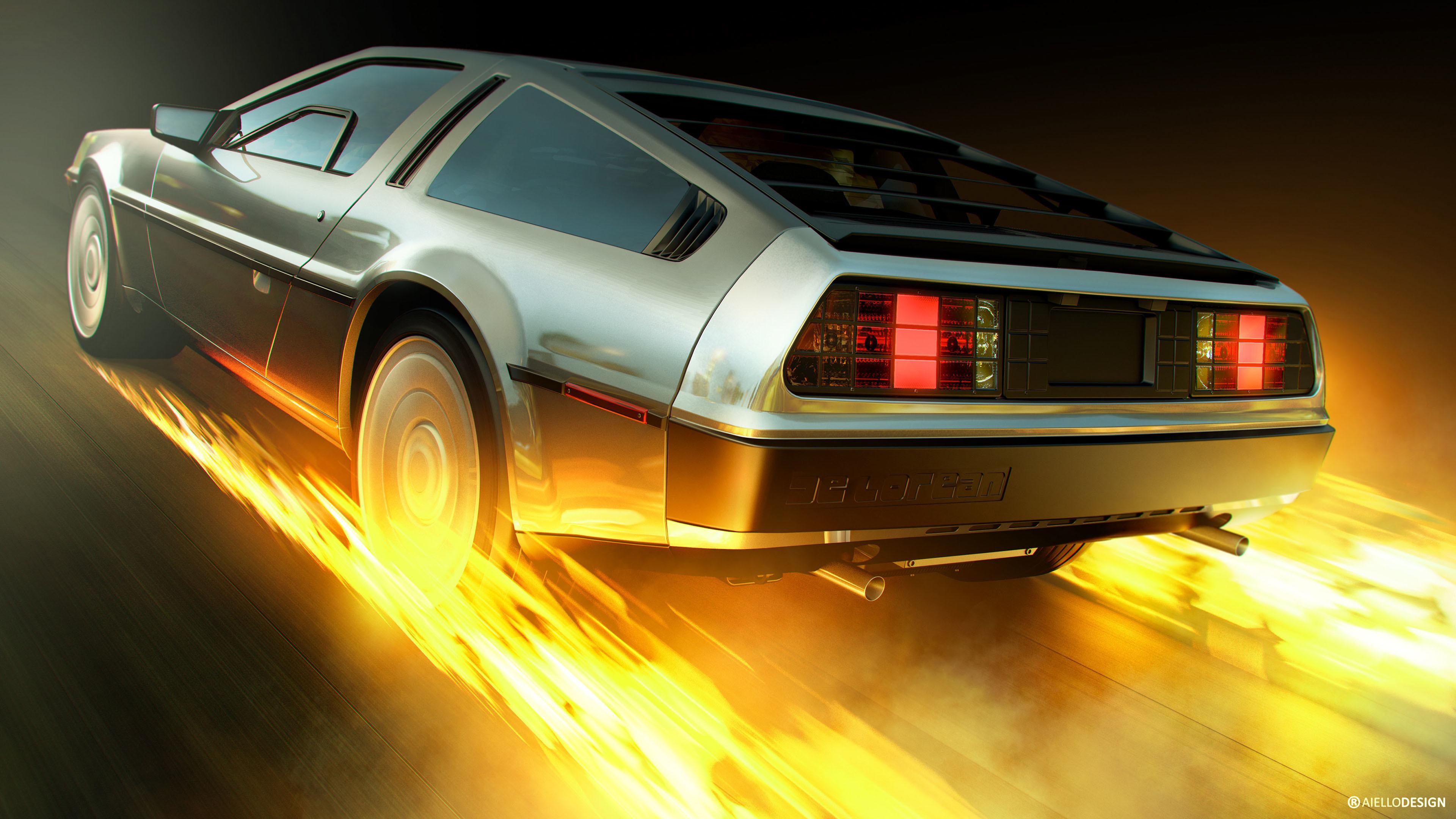 Back to the Future DeLorean 4K