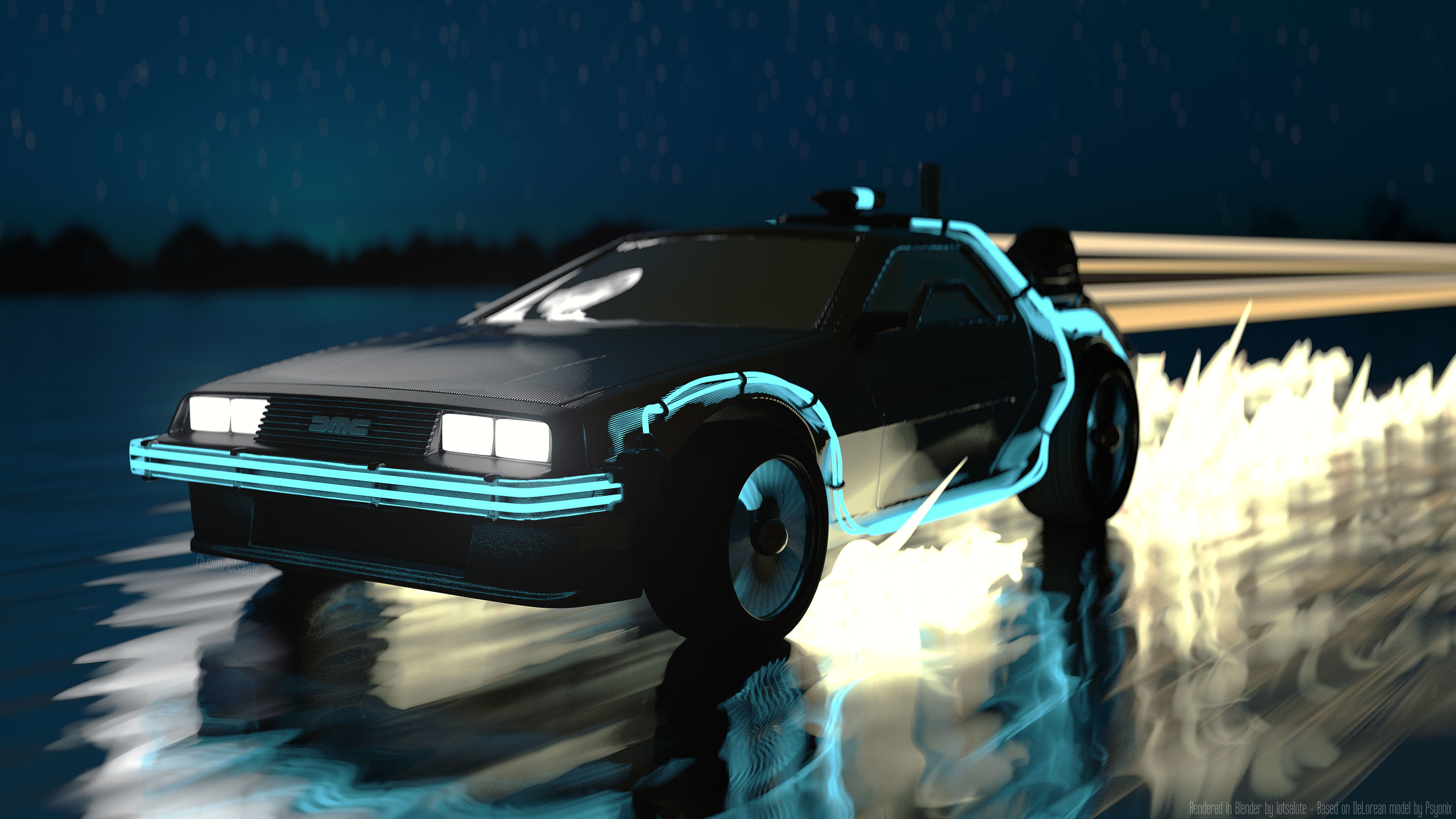 IMAGE/GIFI used the DeLorean model to make this 4K wallpaper. Hope you like  it!