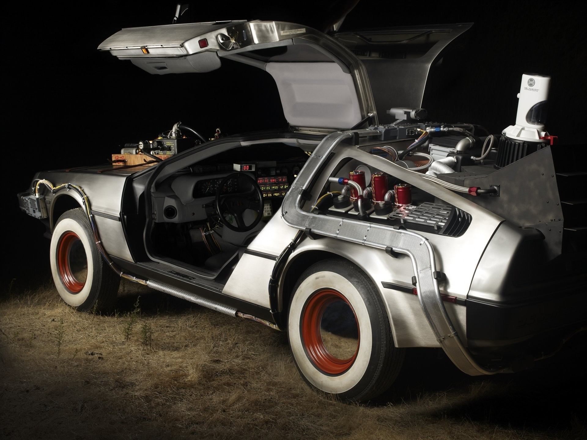 back to the future delorean marty mcfly emmett brown