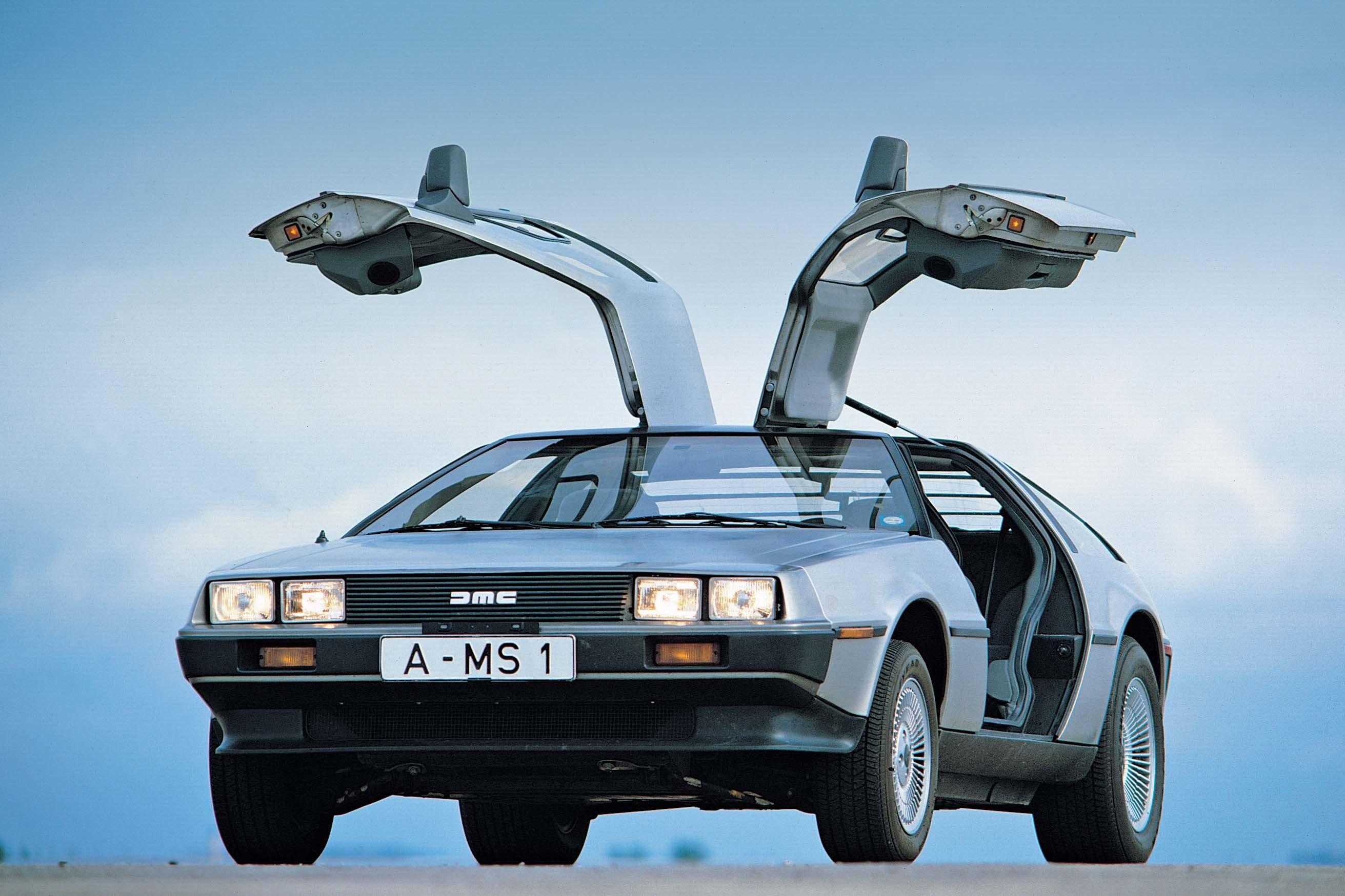 Wallpapers Back to the Future DeLorean Men Night Headlights .