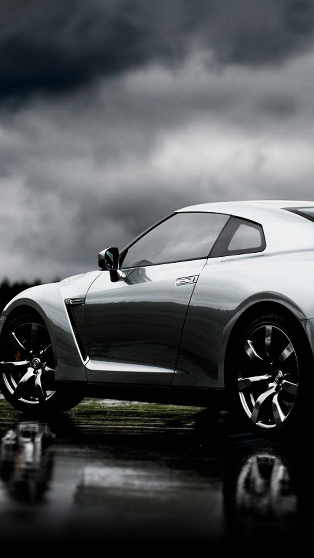 Nissan GT-R Silver Left iPhone 6 Plus HD Wallpaper …