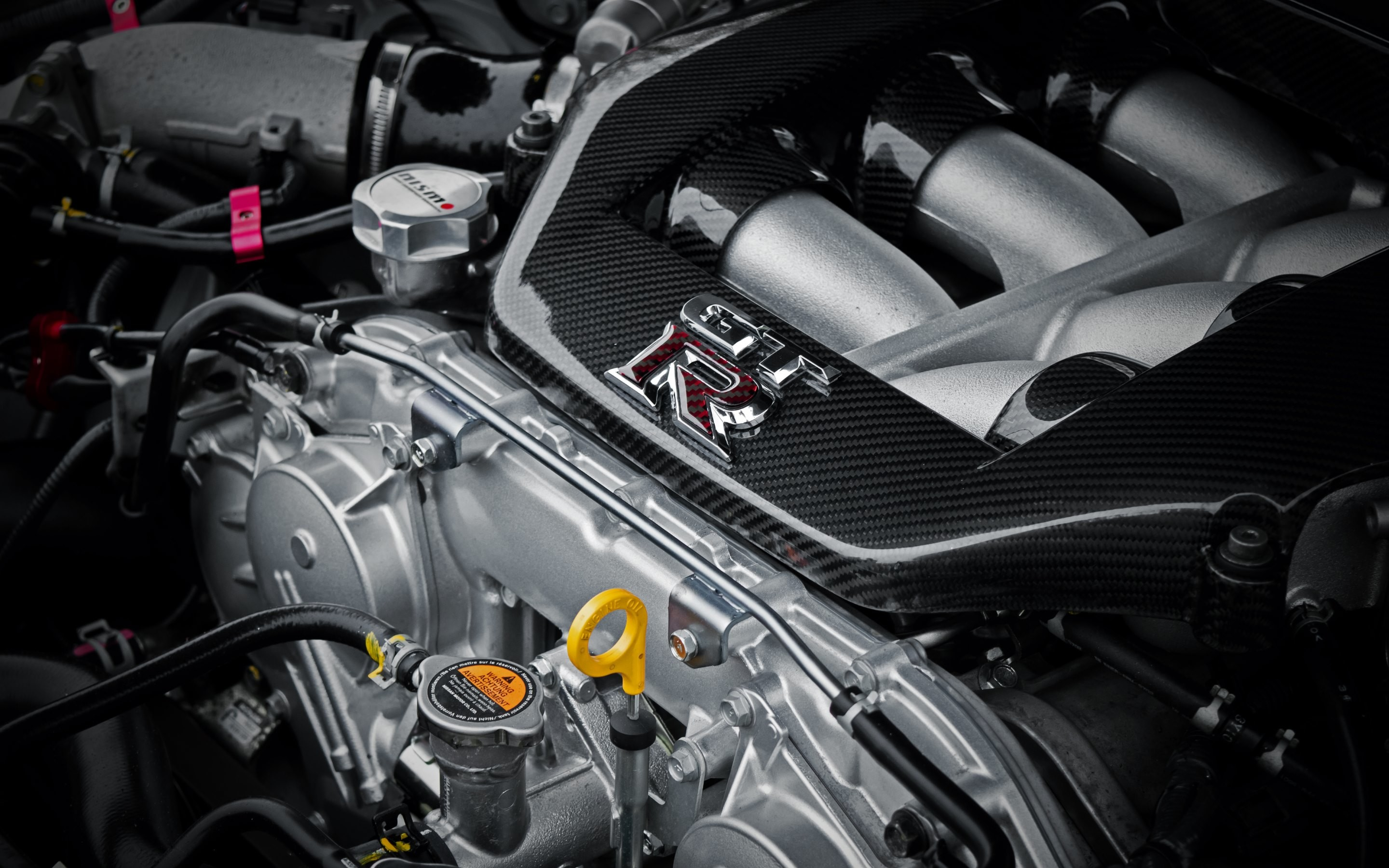 4K HD Wallpaper: Nissan GTR Engine