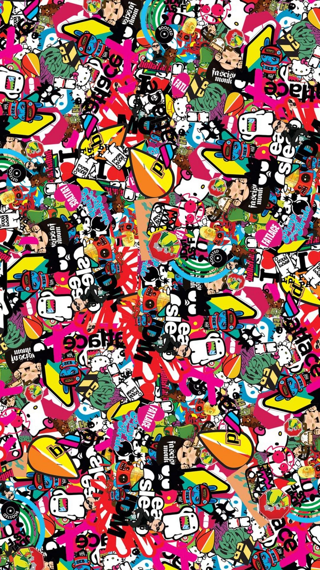 Jdm Background Style Sticker Texture Wallpaper – 1080×1920