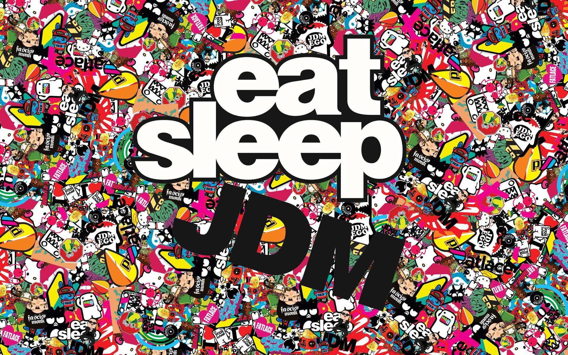 Wallpaper jdm, eat sleep, japan, japanese, domestic, market .