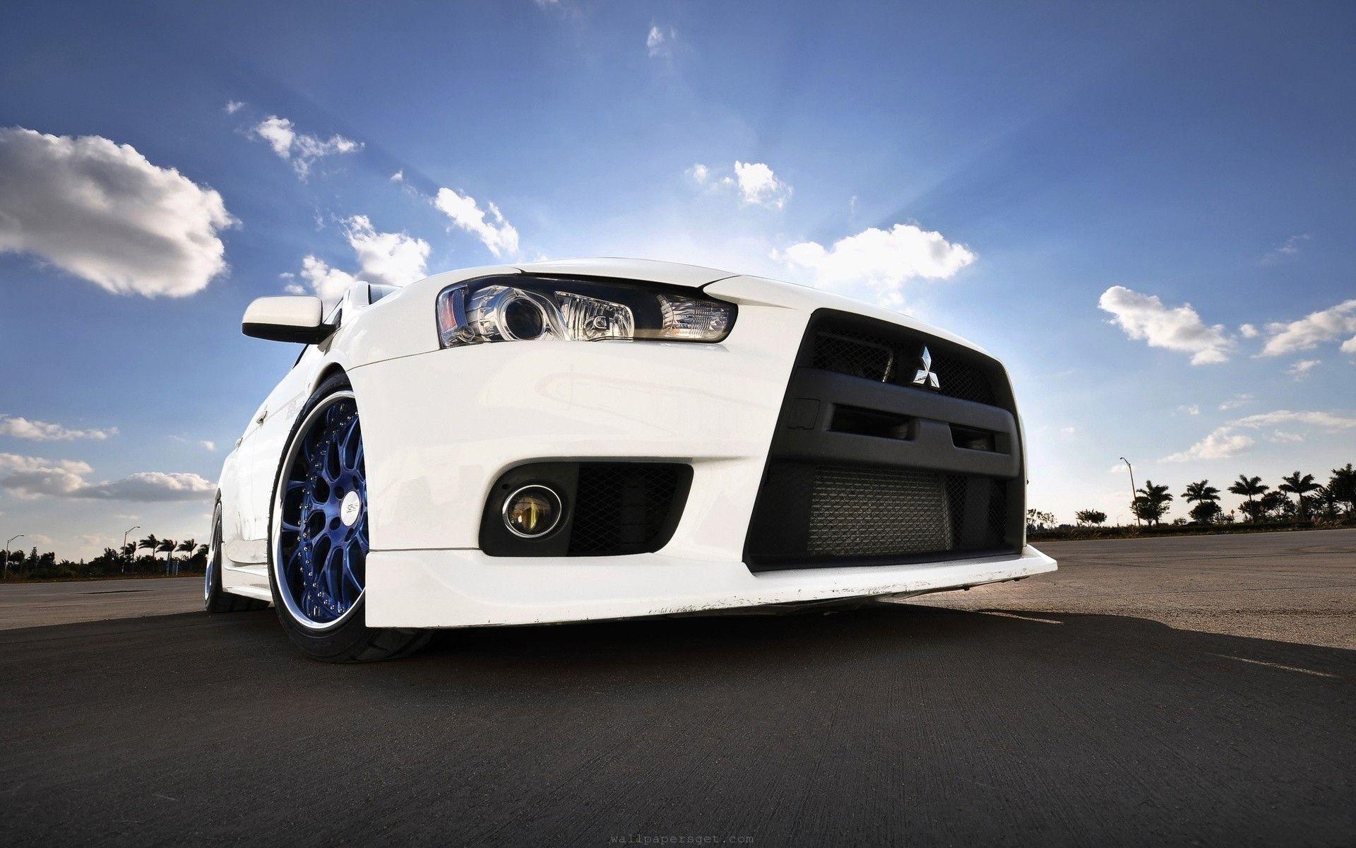 wheels, white cars, roadster, Evo X, Mitsubishi Lancer Evolution X ..