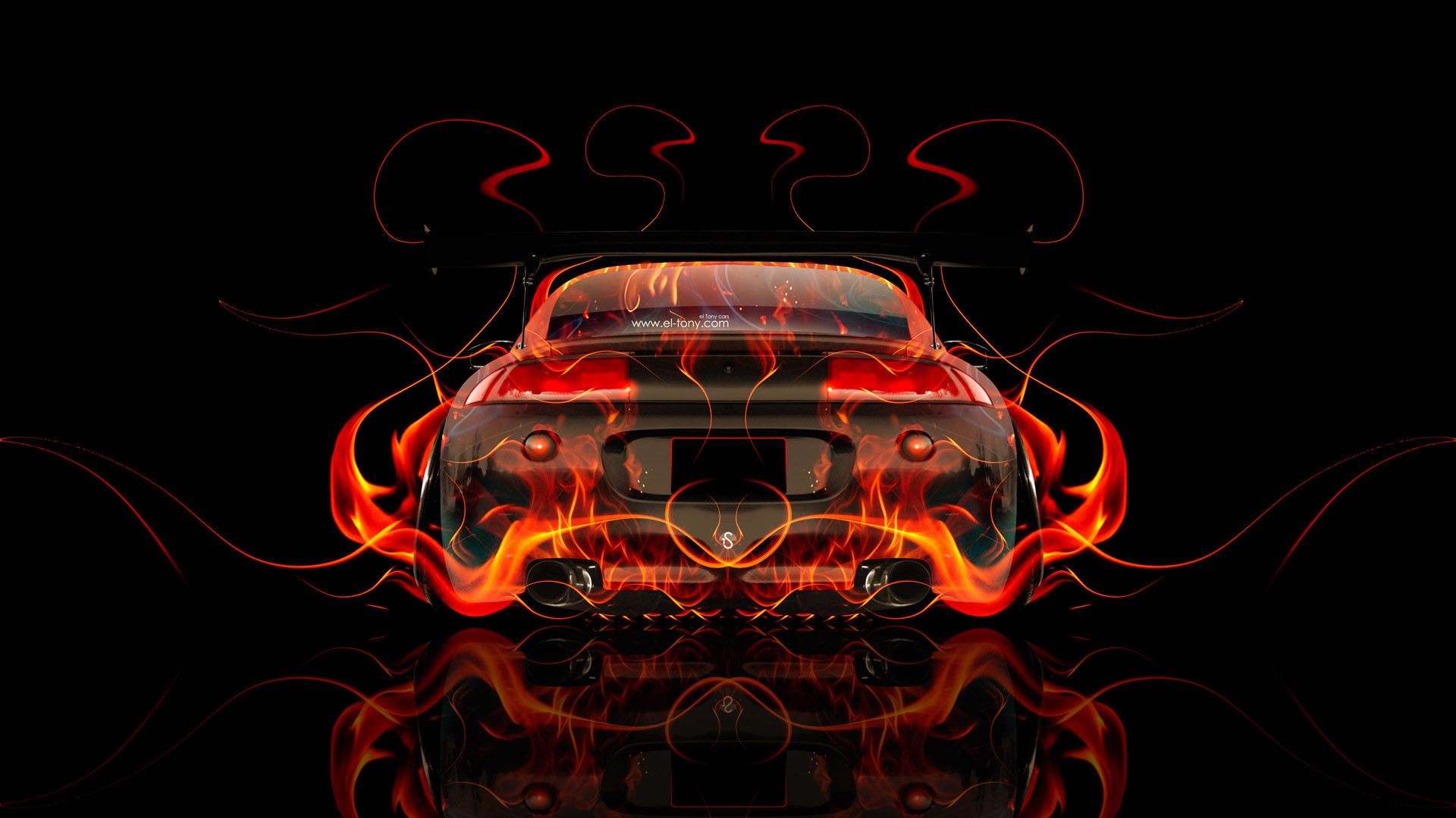 Mitsubishi Eclipse JDM Tuning Back Fire Car 2014