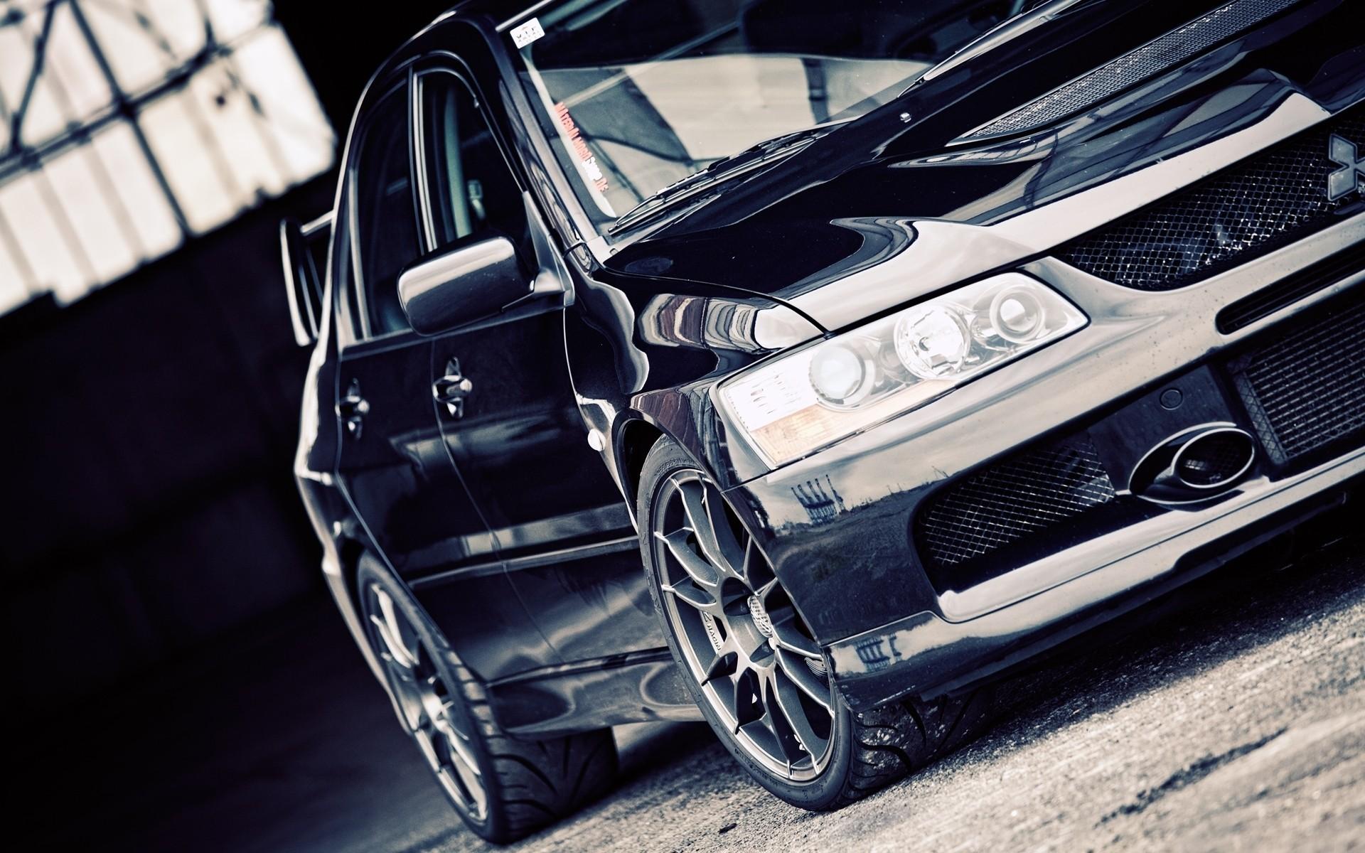 Black dark cars vehicles Mitsubishi Lancer Evolution black cars Mitsubishi  Evo wallpaper | | 196519 | WallpaperUP