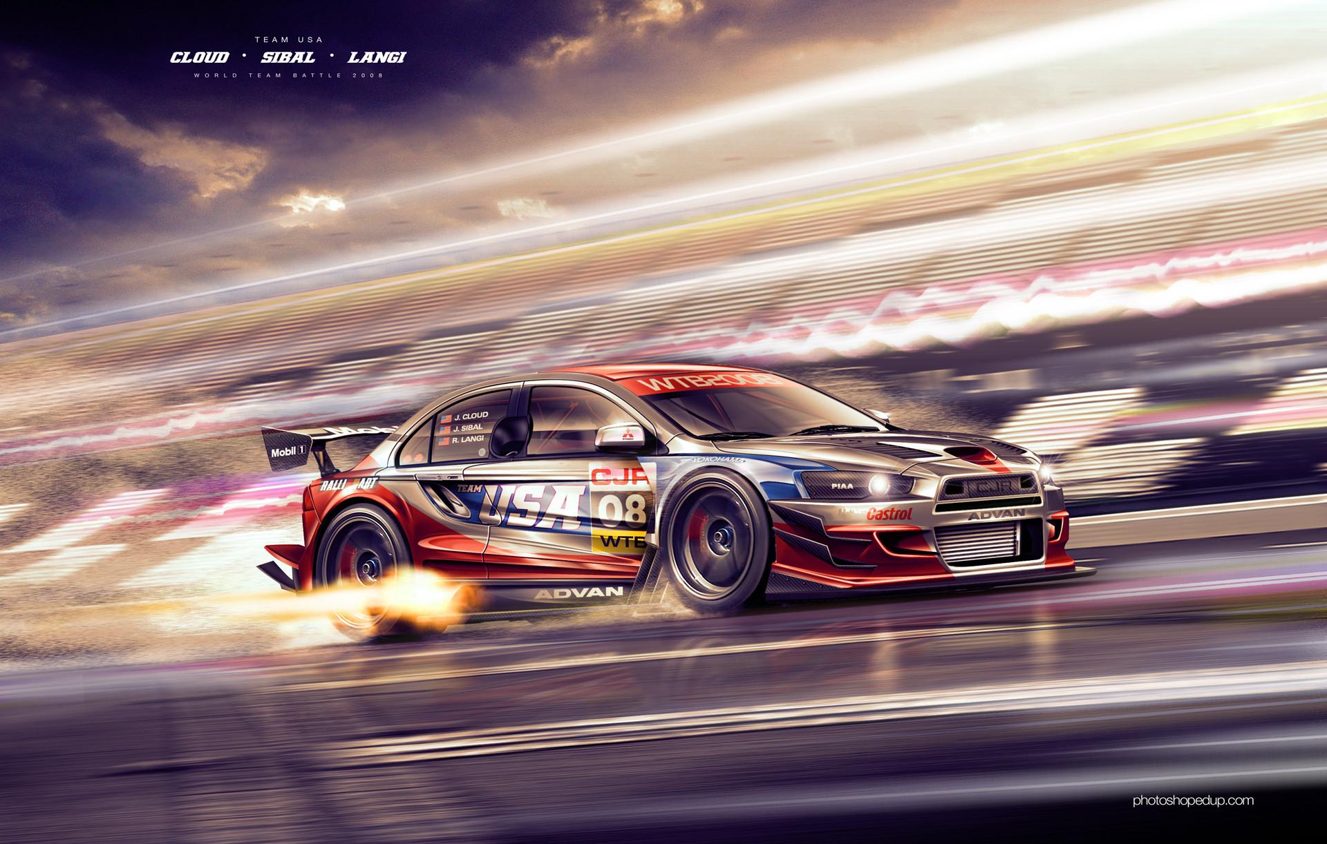 Mitsubishi EVO Racing Car Wallpaper HD