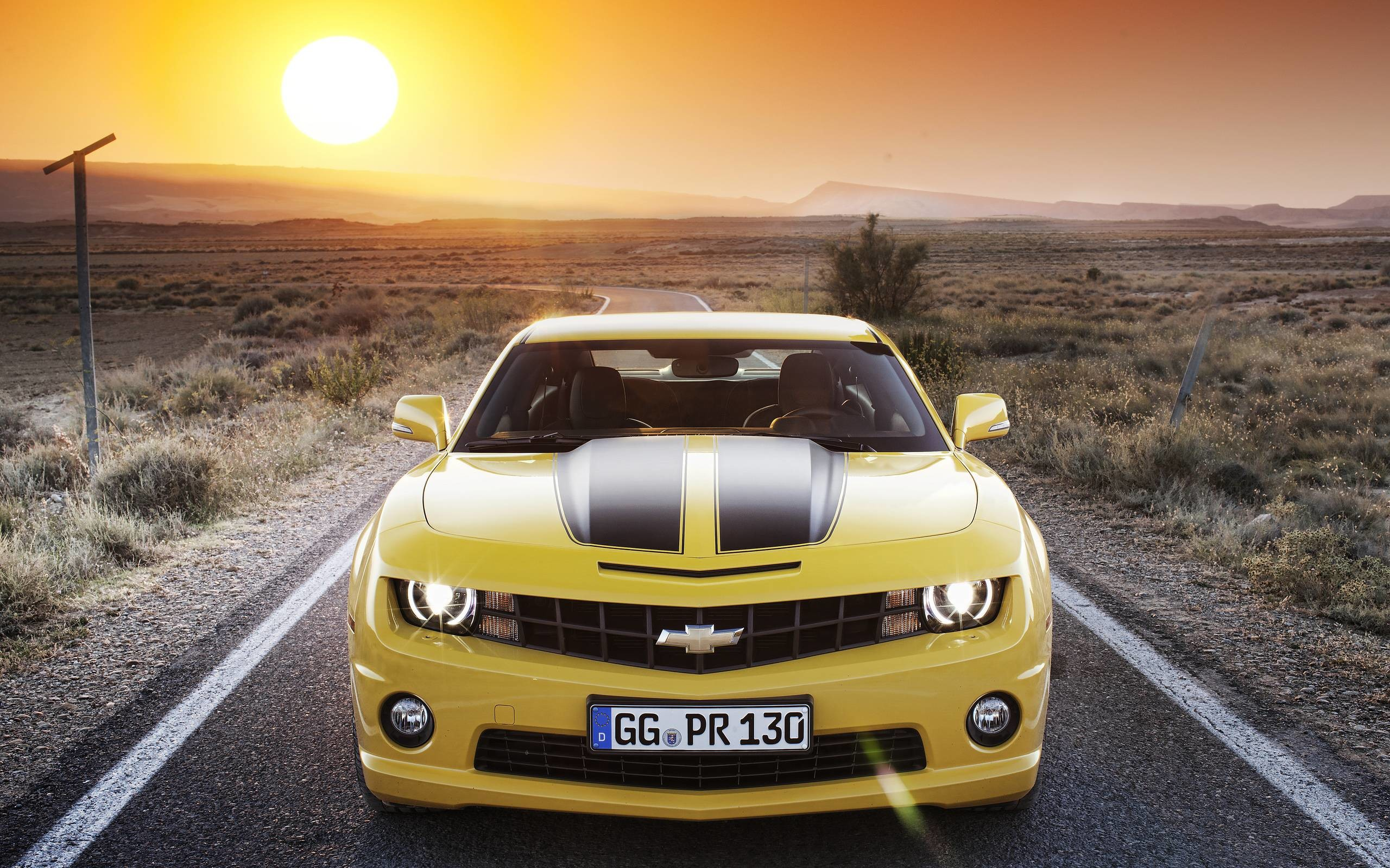 Chevrolet Camaro Wallpaper Yellow 2652 Full HD Wallpaper Desktop .