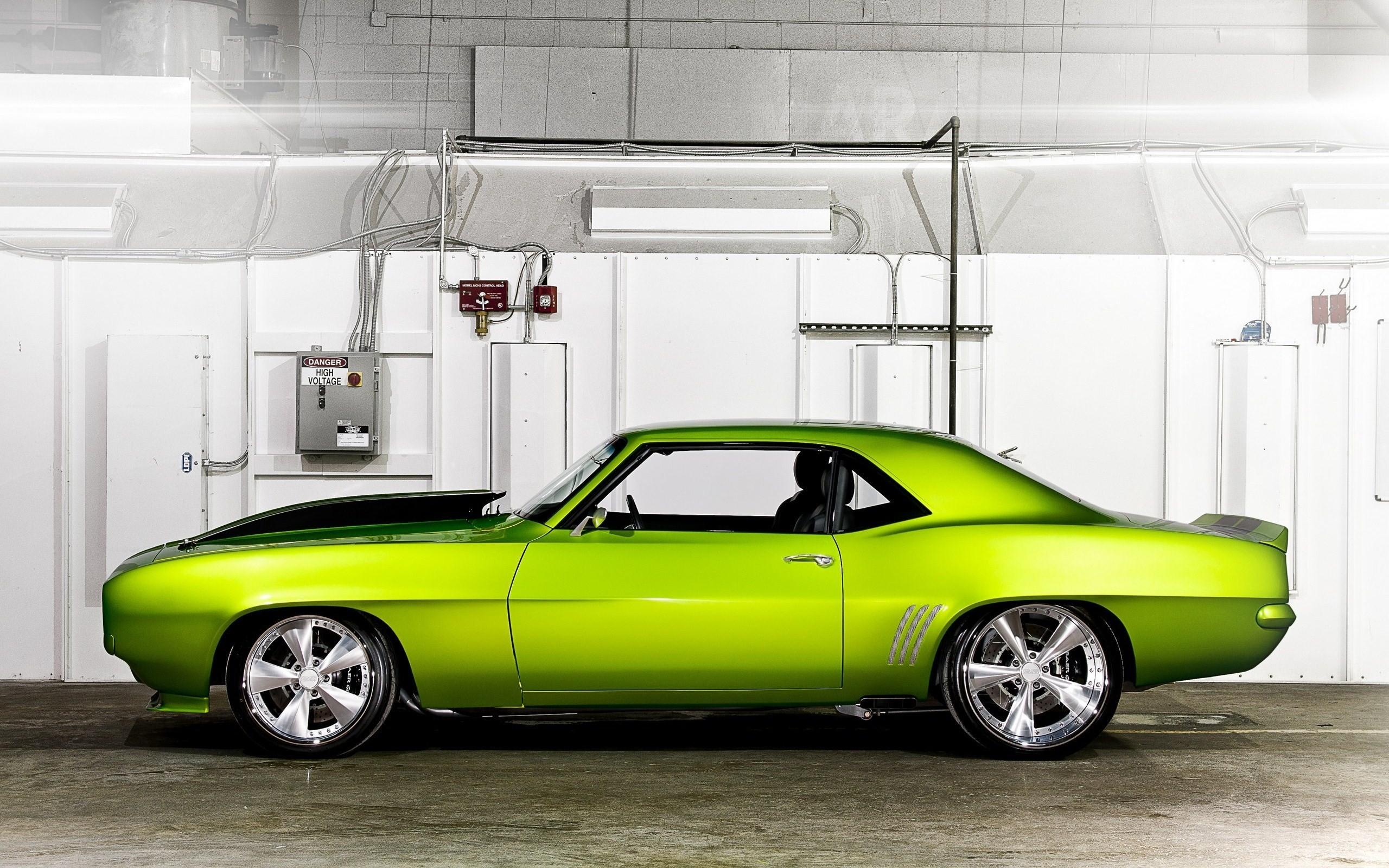 1969 Camaro Green Muscle Car Tuning Desktop Wallpaper Uploaded by  DesktopWalls