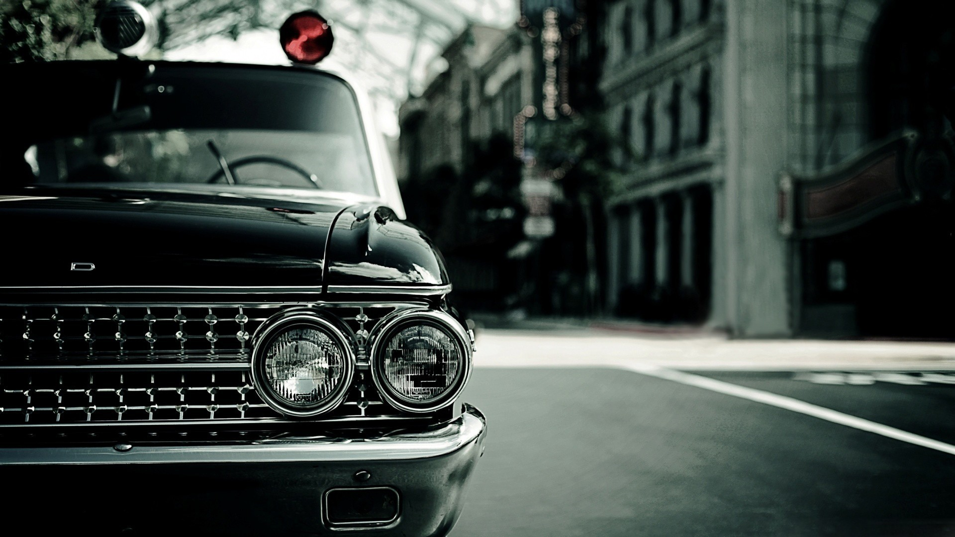 Vintage Police Car Wallpaper