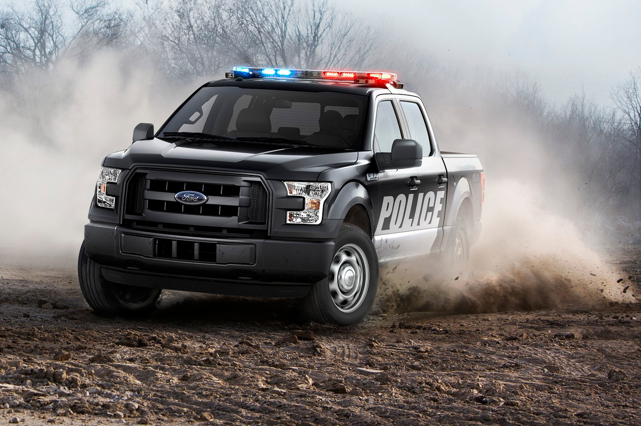 2016 Ford F-150 Police Background Wallpaper