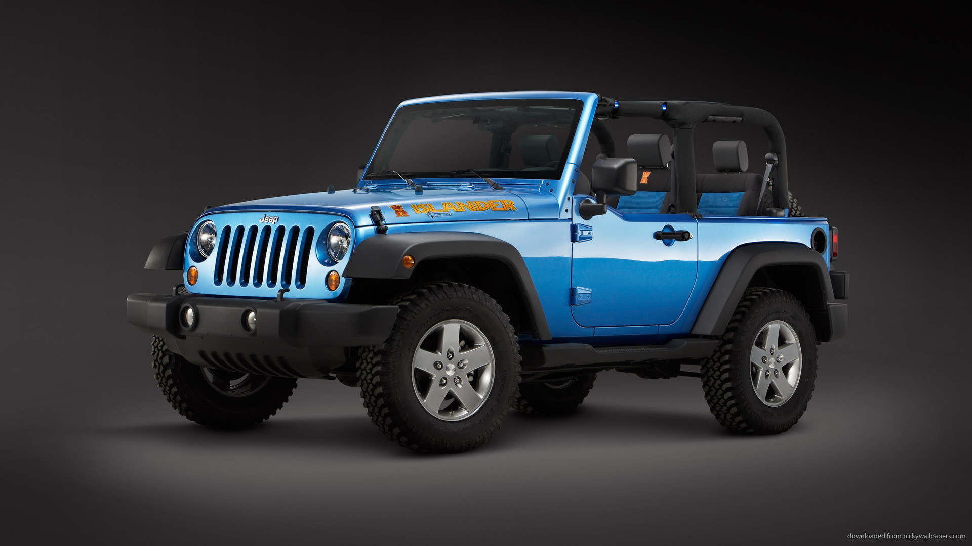 Blue Jeep Wrangler 2010 picture