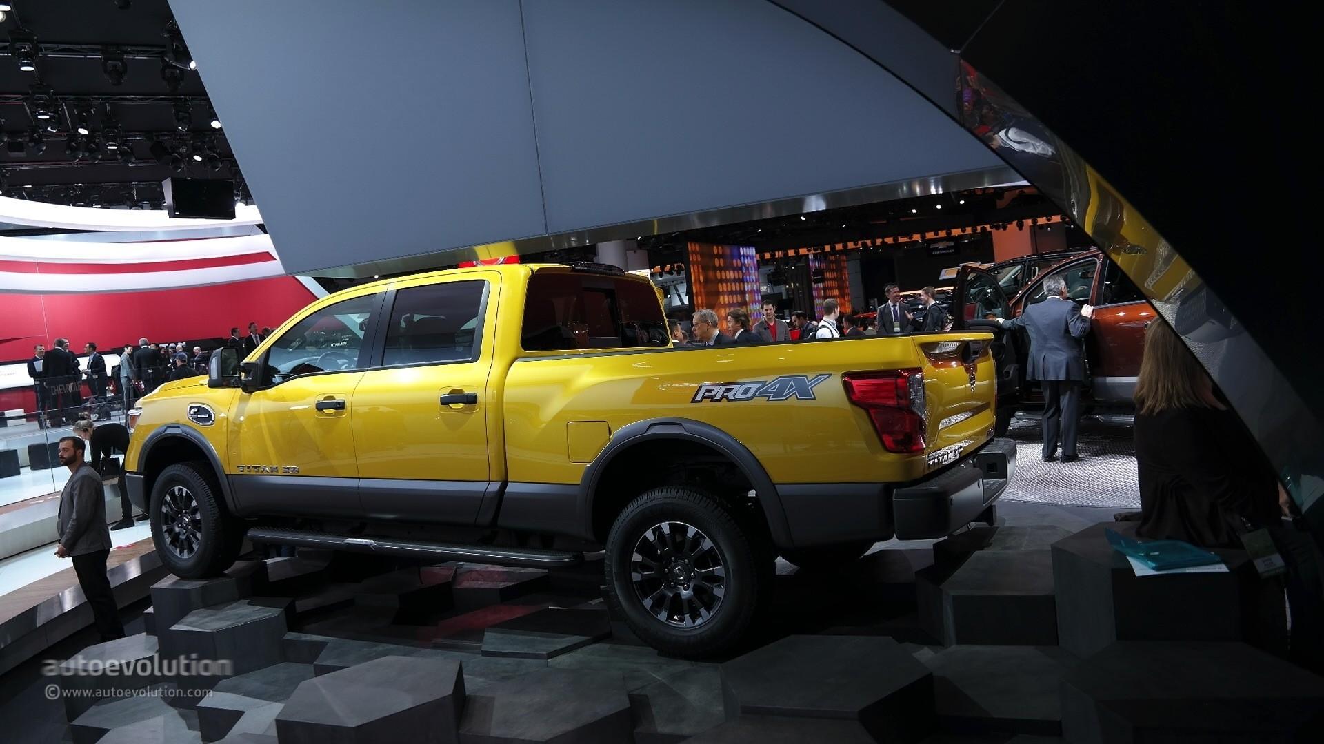 … 2016 Nissan Titan XD Cummins Diesel live photo @ 2015 Detroit Auto Show  …