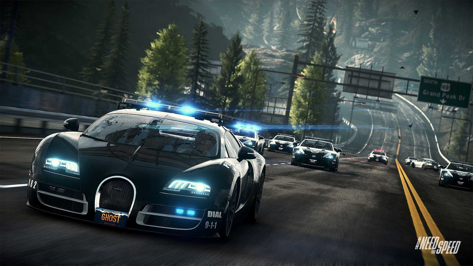 Need for Speed Rivals Bugatti Cop Car