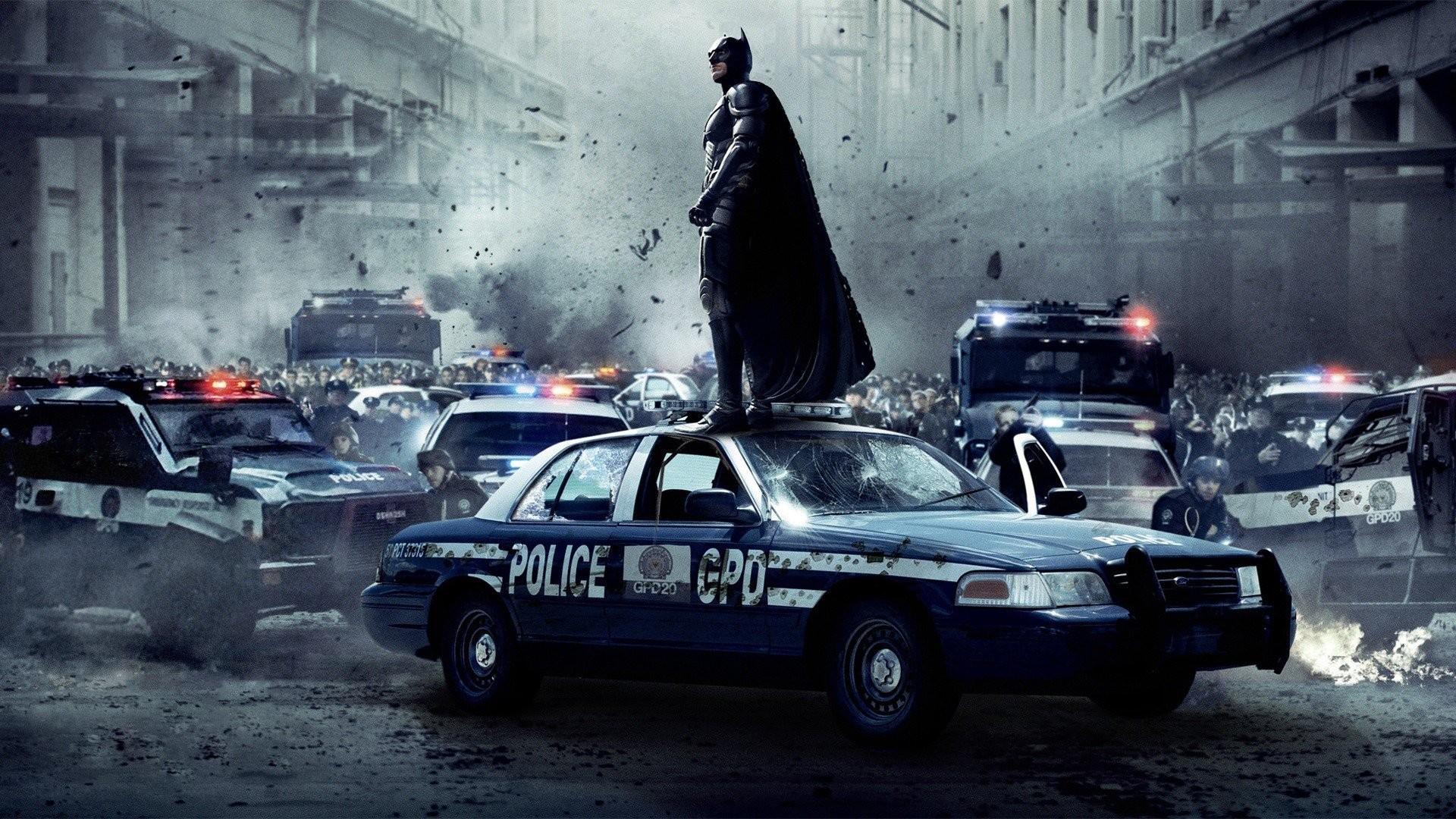 Batman The Dark Knight Rises Cars Explosions Movies Police Cruiser