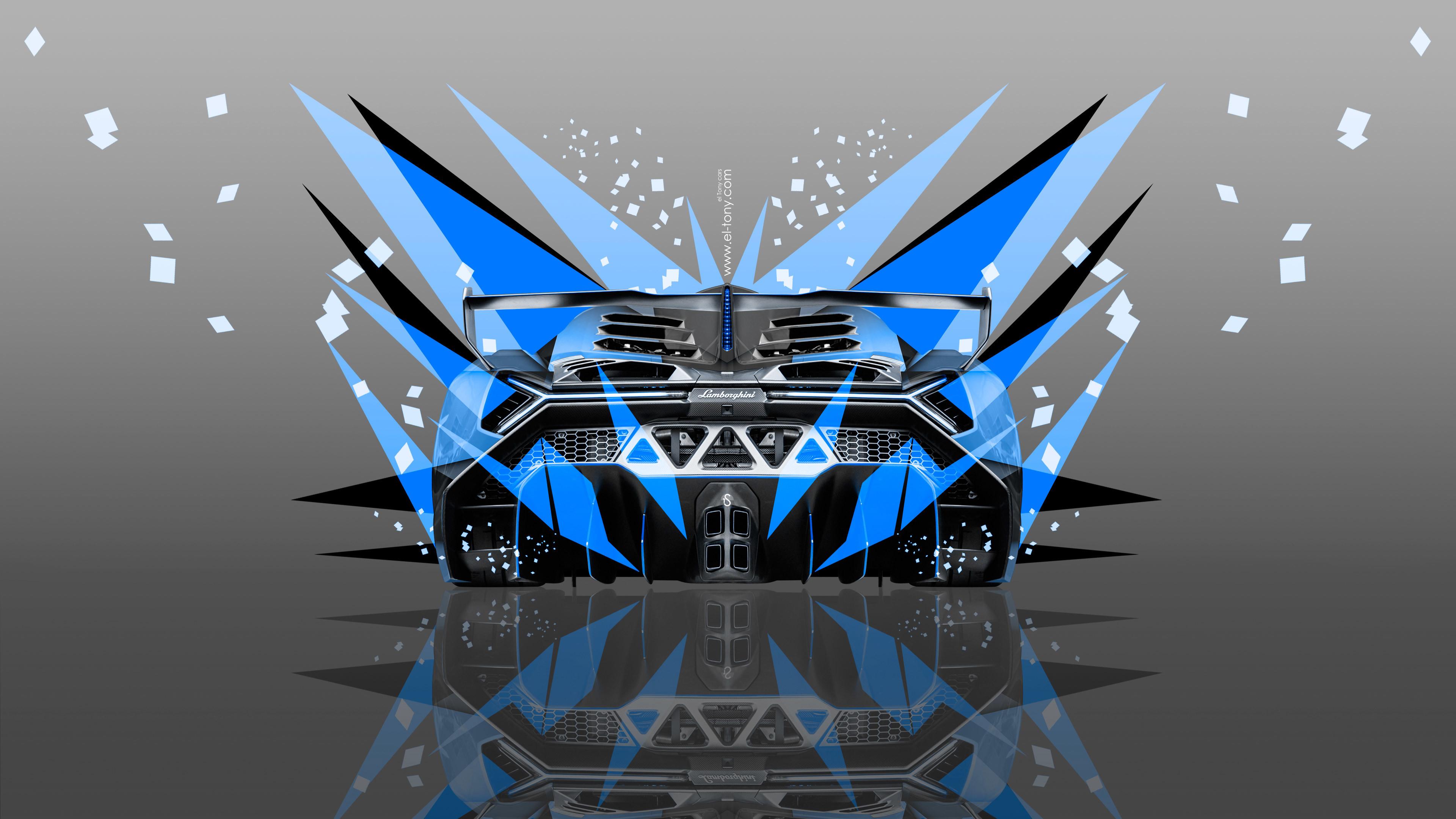 Lamborghini-Veneno-Back-Abstract-Transformer-Car-2014-Blue-