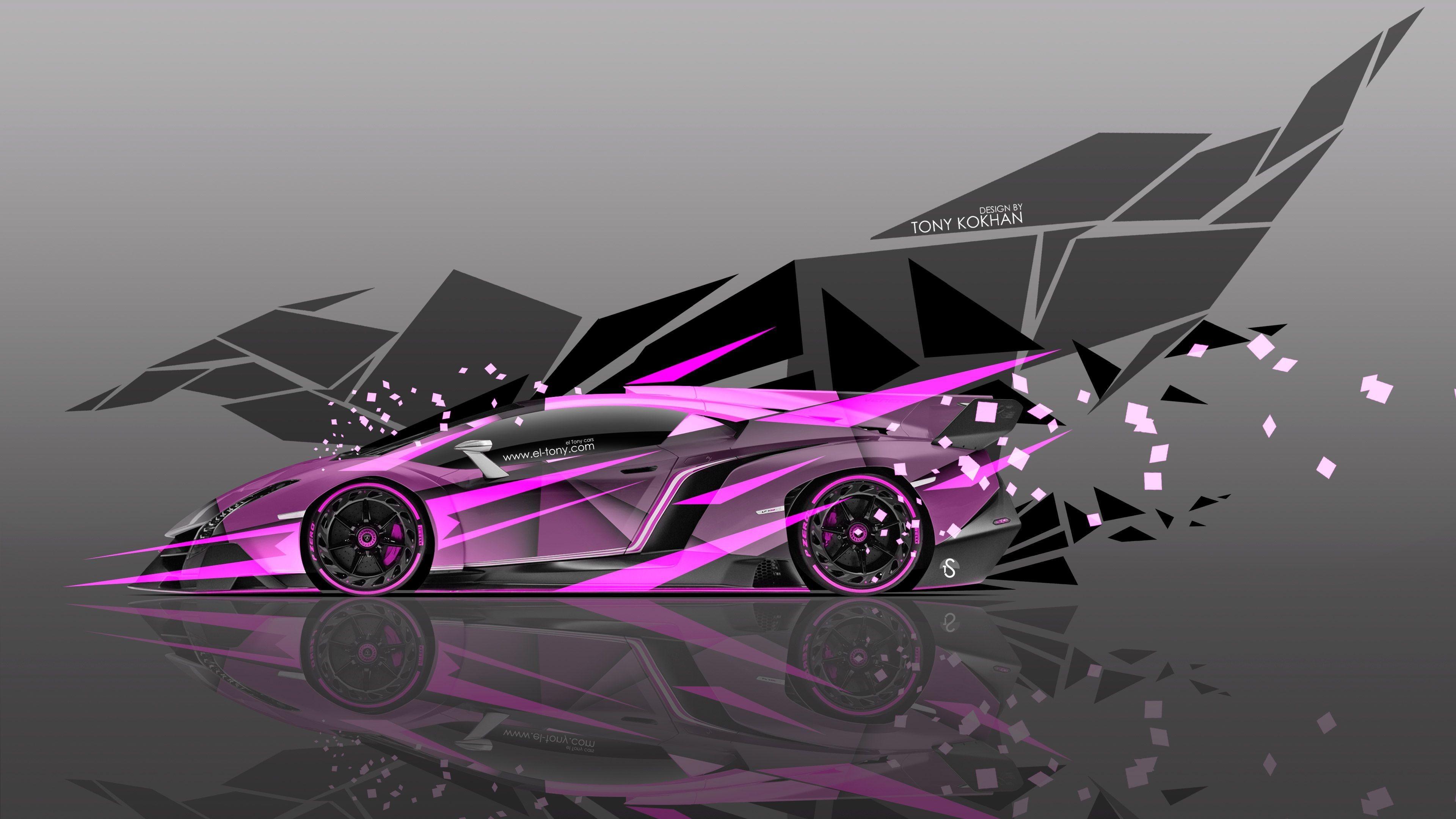 4K Lamborghini Veneno Side Super Abstract Car 2015 Â« el Tony