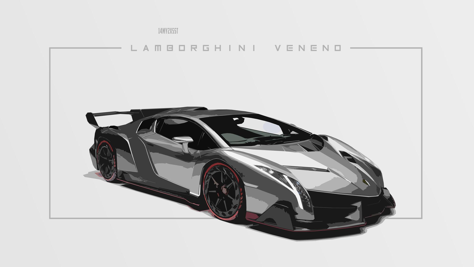 Lamborghini Veneno Lamborghini Car Artistic Sport Car Black & White 4k UHD  Wallpaper