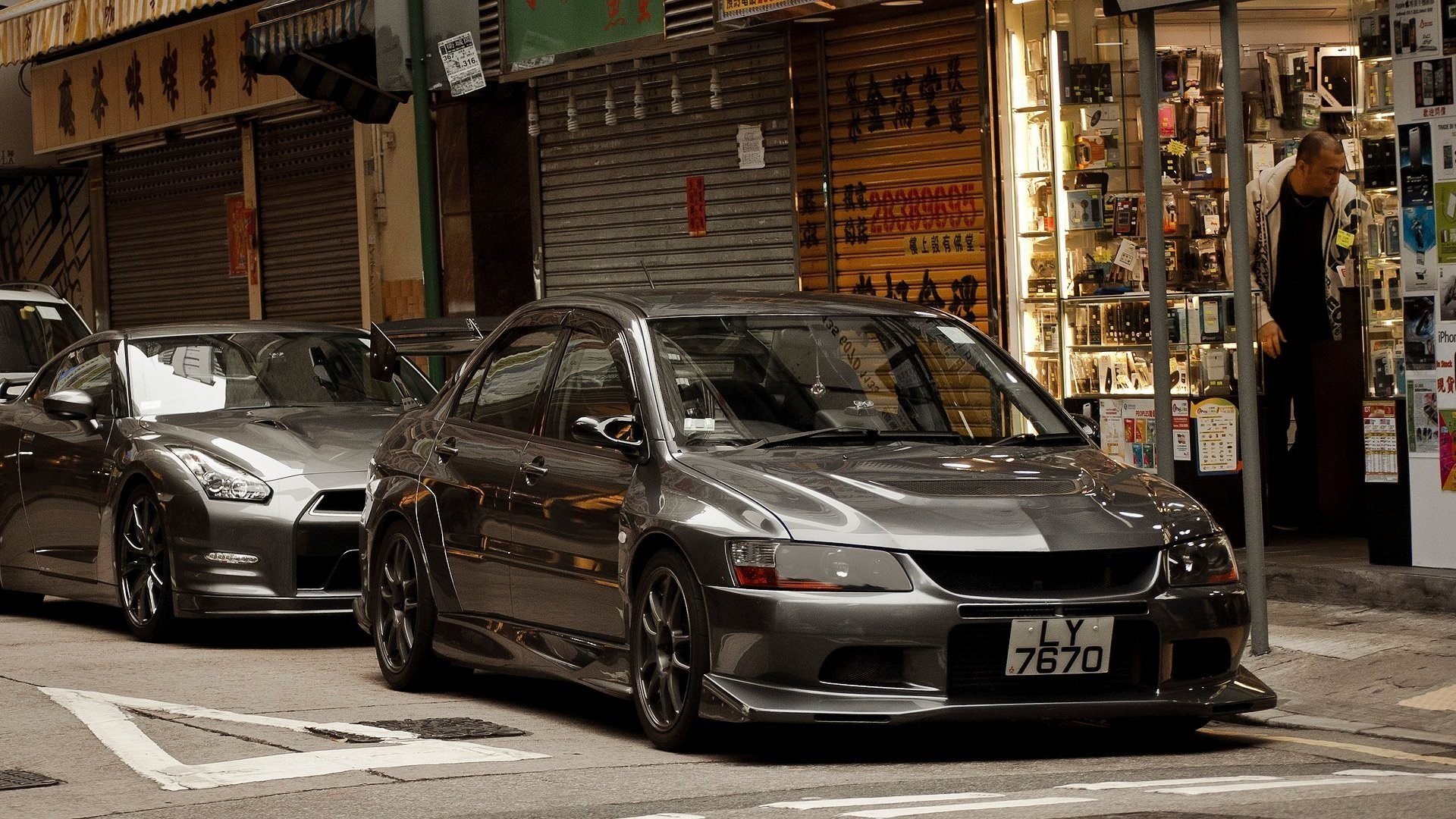 China cars Hong Kong sports cars Mitsubishi Lancer Evolution VIII Nissan  R35 GT-R wallpaper | | 238227 | WallpaperUP