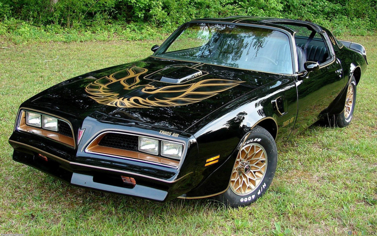 Black & Gold Pontiac Firebird wallpaper