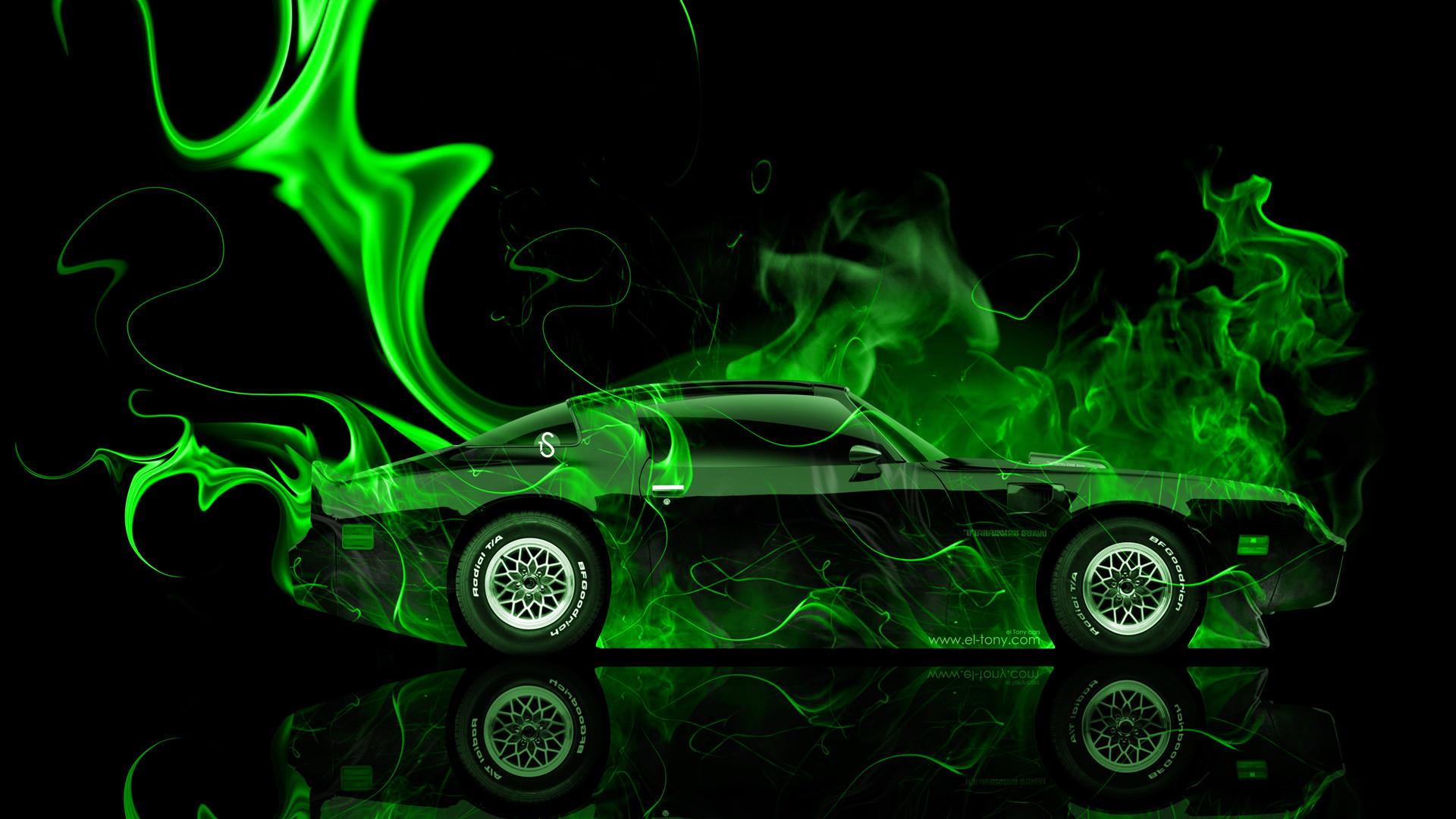 … Pontiac-Firebird-Side-Green-Fire-Abstract-Car-2014- …