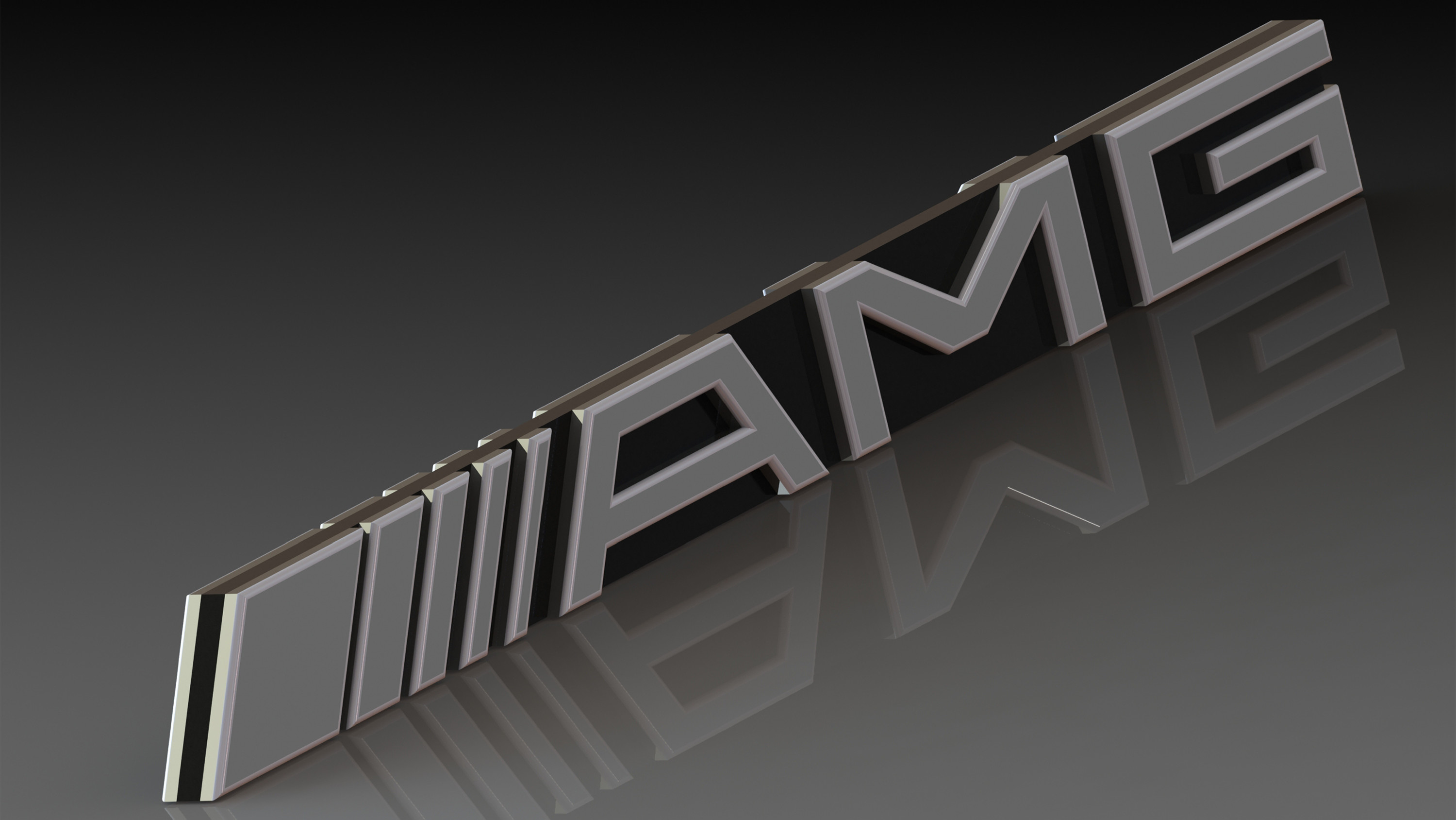 … 3D AMG Logo 02 by llexandro
