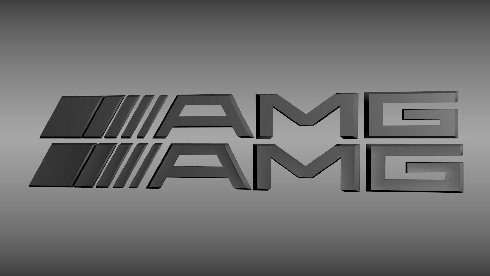… amg logo set 3d model obj blend mtl 3 …